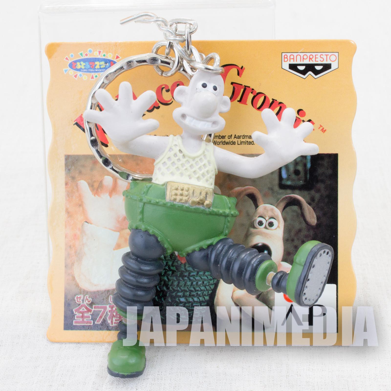 Wallace & Gromit WALLACE Figure Key Chain Banpresto JAPAN Ardman ANIME