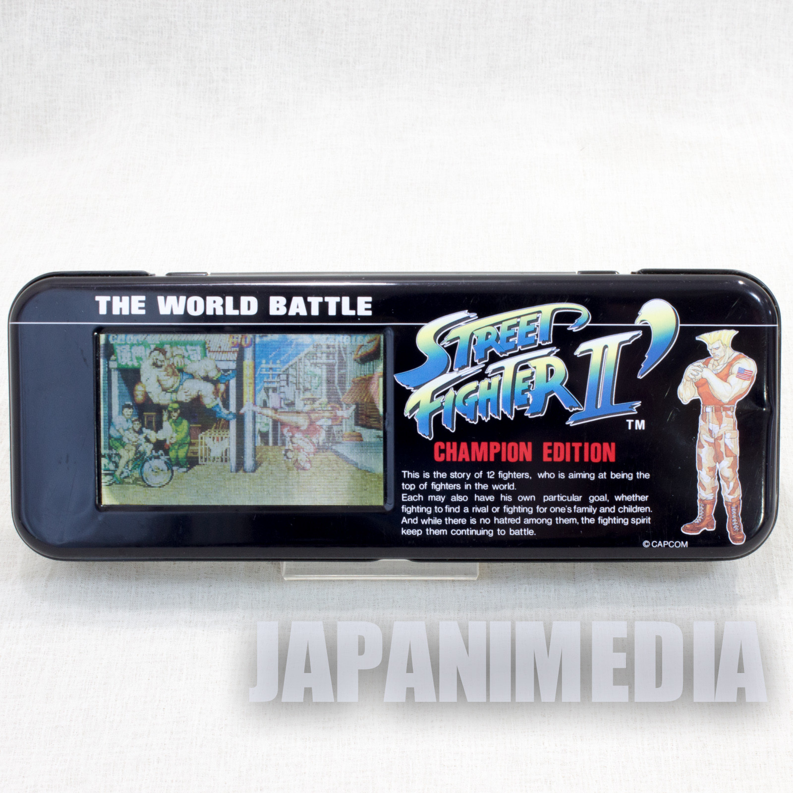 Retro RARE Street Fighter 2 Dash Champion Edition Can Pen Case Sun Star JAPAN