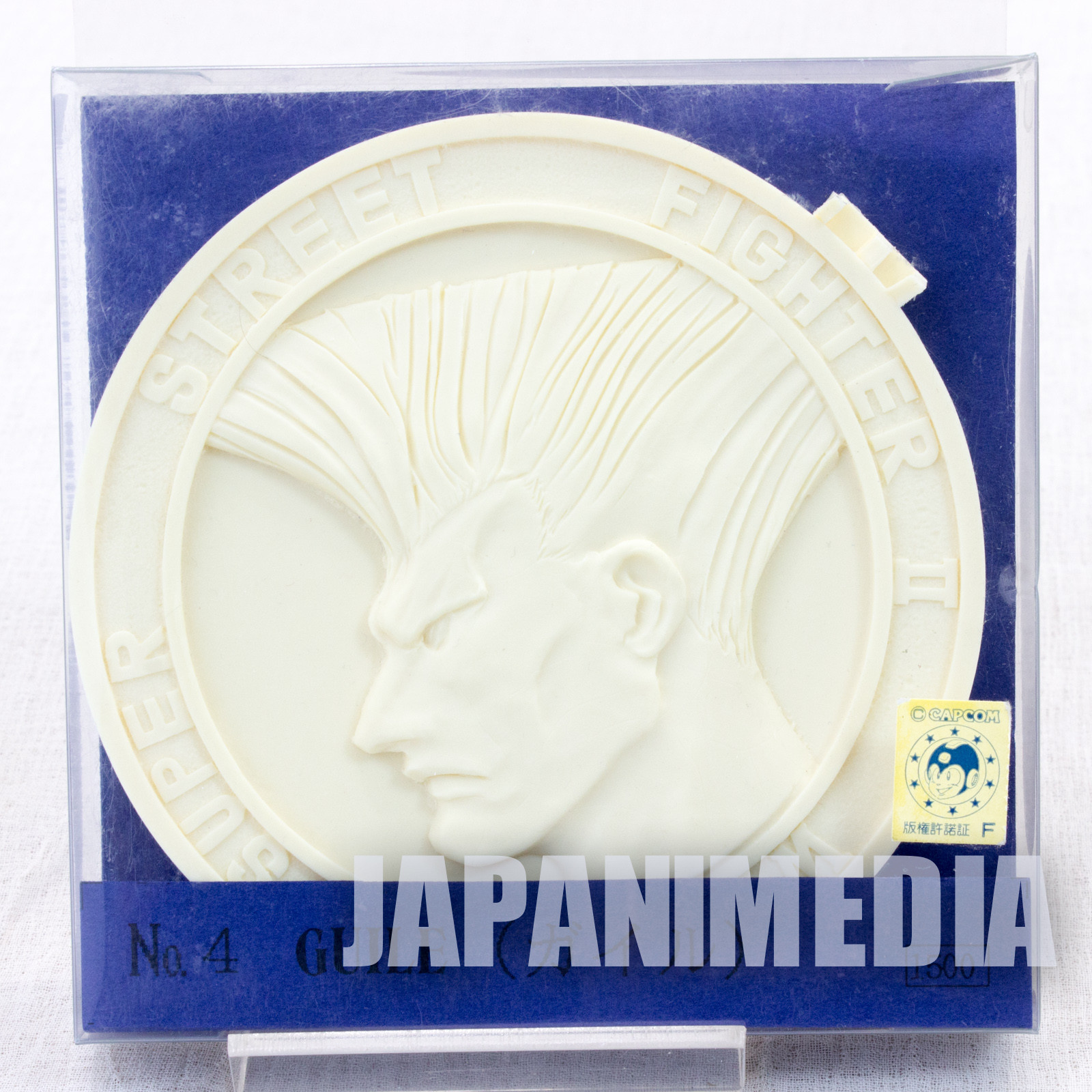 Street Fighter 2 Guile Medal Type Resin Cast Model kit Volks Capcom FIGURE