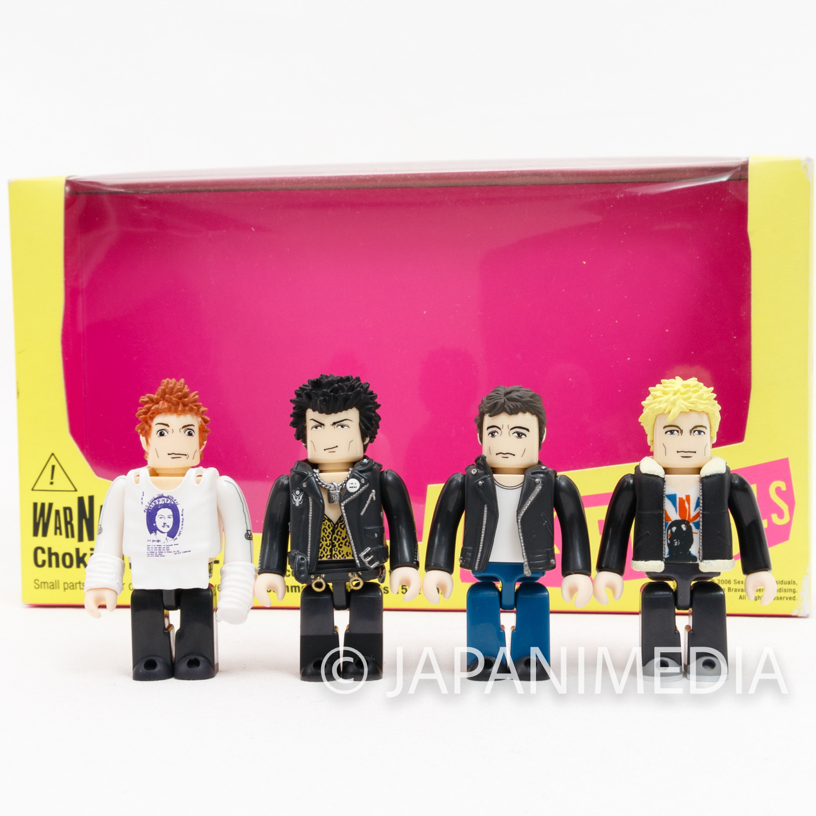 SEX PISTOLS Kubrick figure set Johnny Rotten Sid Vicious Medicom Toy JAPAN 1