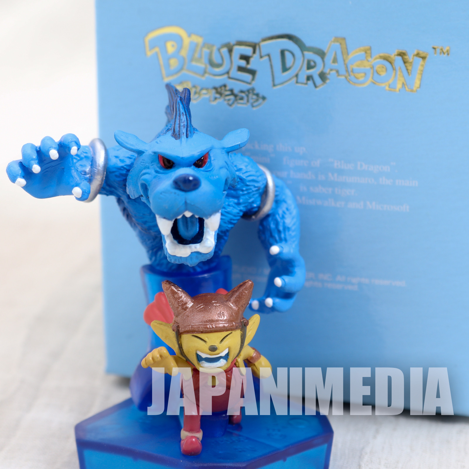 Blue Dragon Marumaro & Shadow Saber Tiger Mini Figure Akira Toriyama JAPAN ANIME
