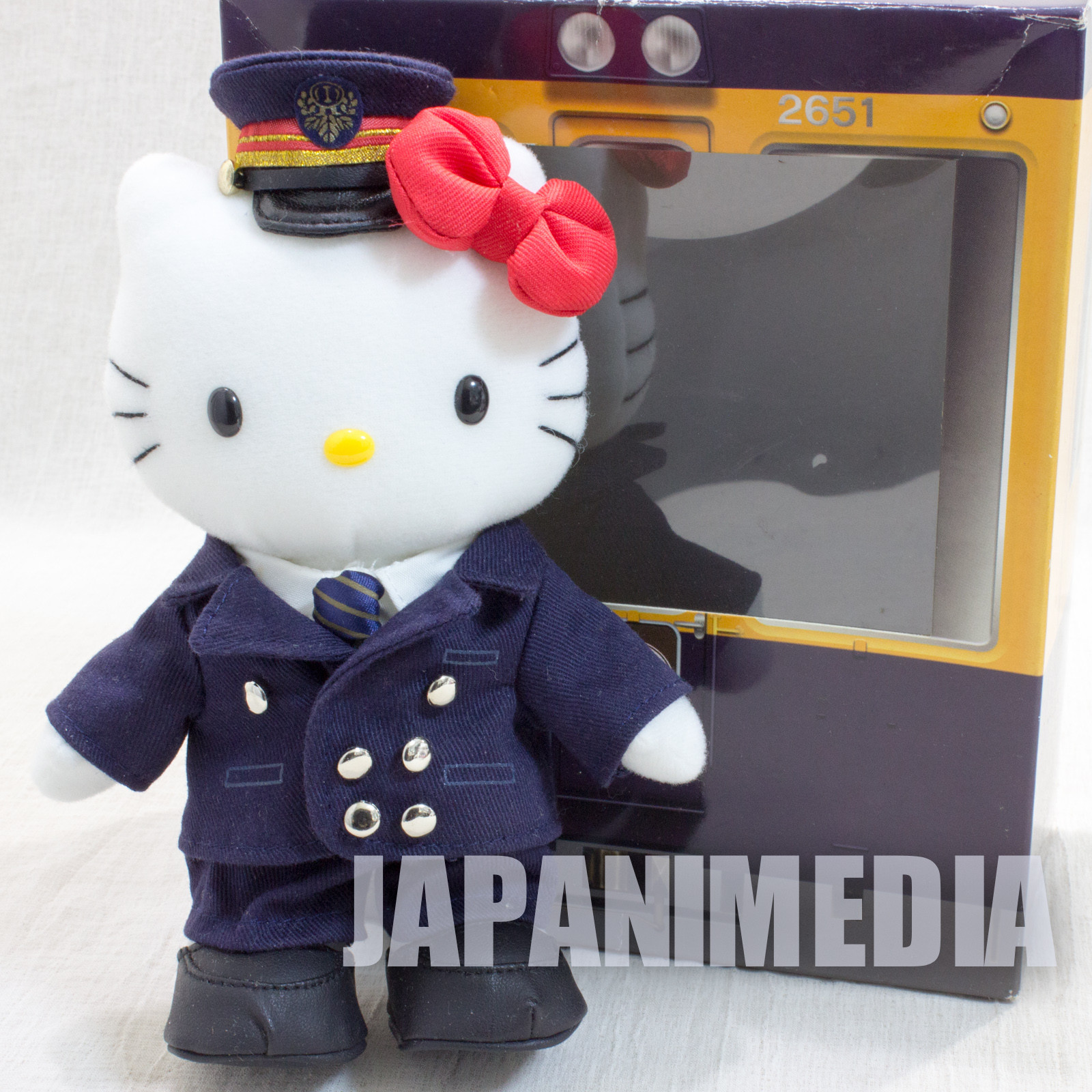 Hello Kitty Odakyu Electric Railway Costume Ver. Plush Doll Figure JAPAN SANRIO