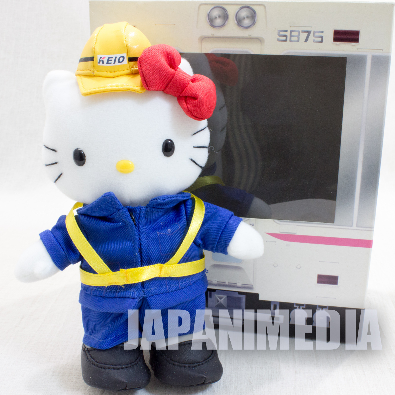 Hello Kitty Keio Electric Railway Costume Ver. 2 Plush Doll Figure JAPAN SANRIO