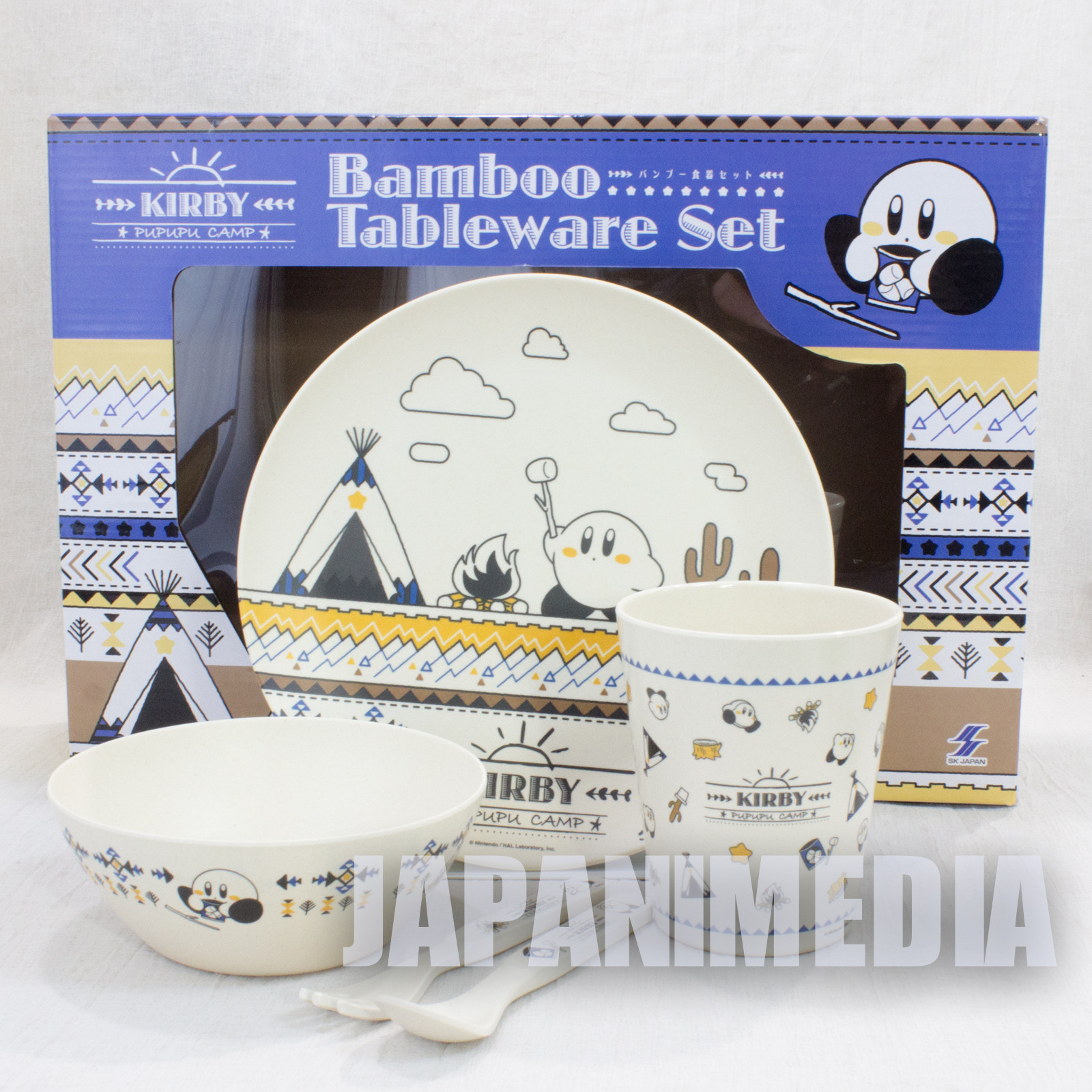 Kirby Super Star Bamboo Tableware Set JAPAN GAME NINTNEDO