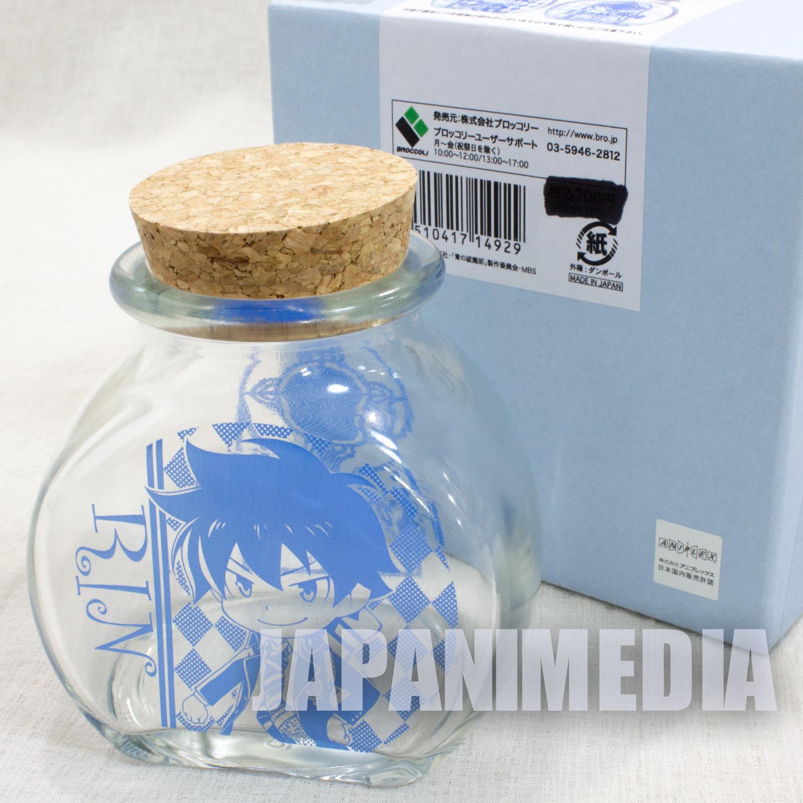 Blue Exorcist Rin Okumura Glass Bottle JAPAN ANIME SHONEN JUMP