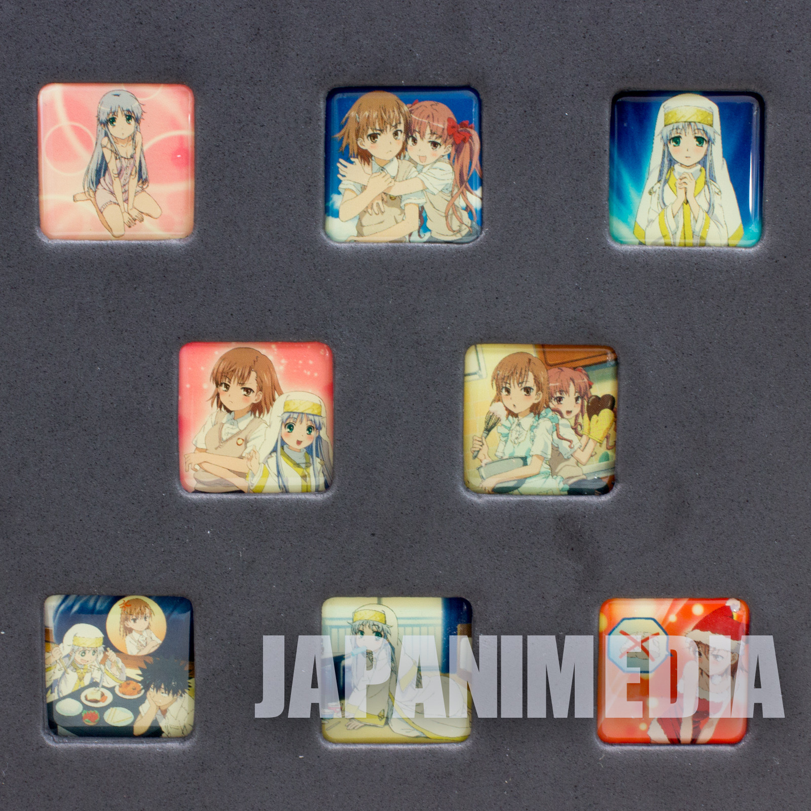 To Aru Majutsu no Index Pins 8pc Set JAPAN ANIME MANGA KAGAKU RAILGUN