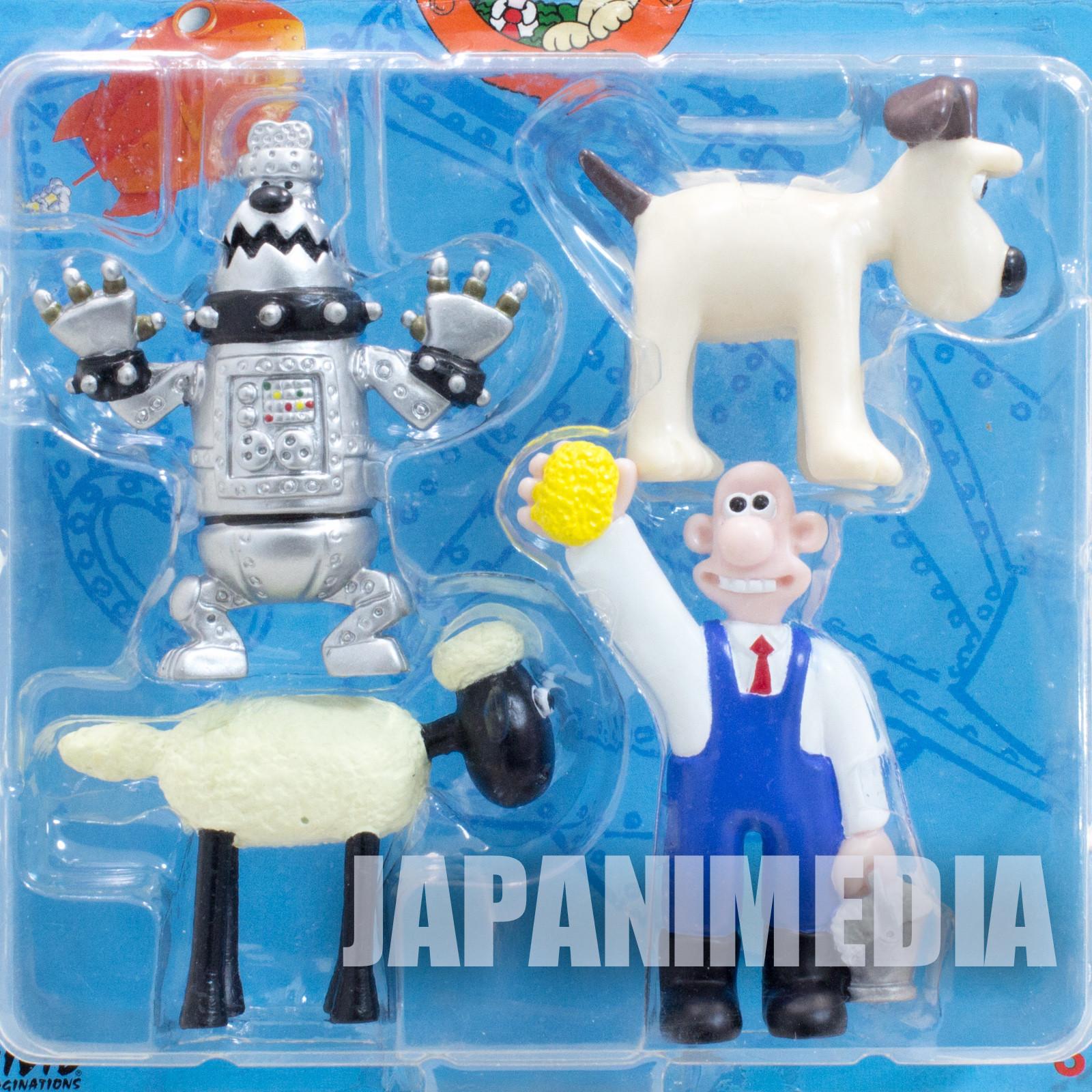 Wallace & Gromit Mini Figure 4pc Set Aardman