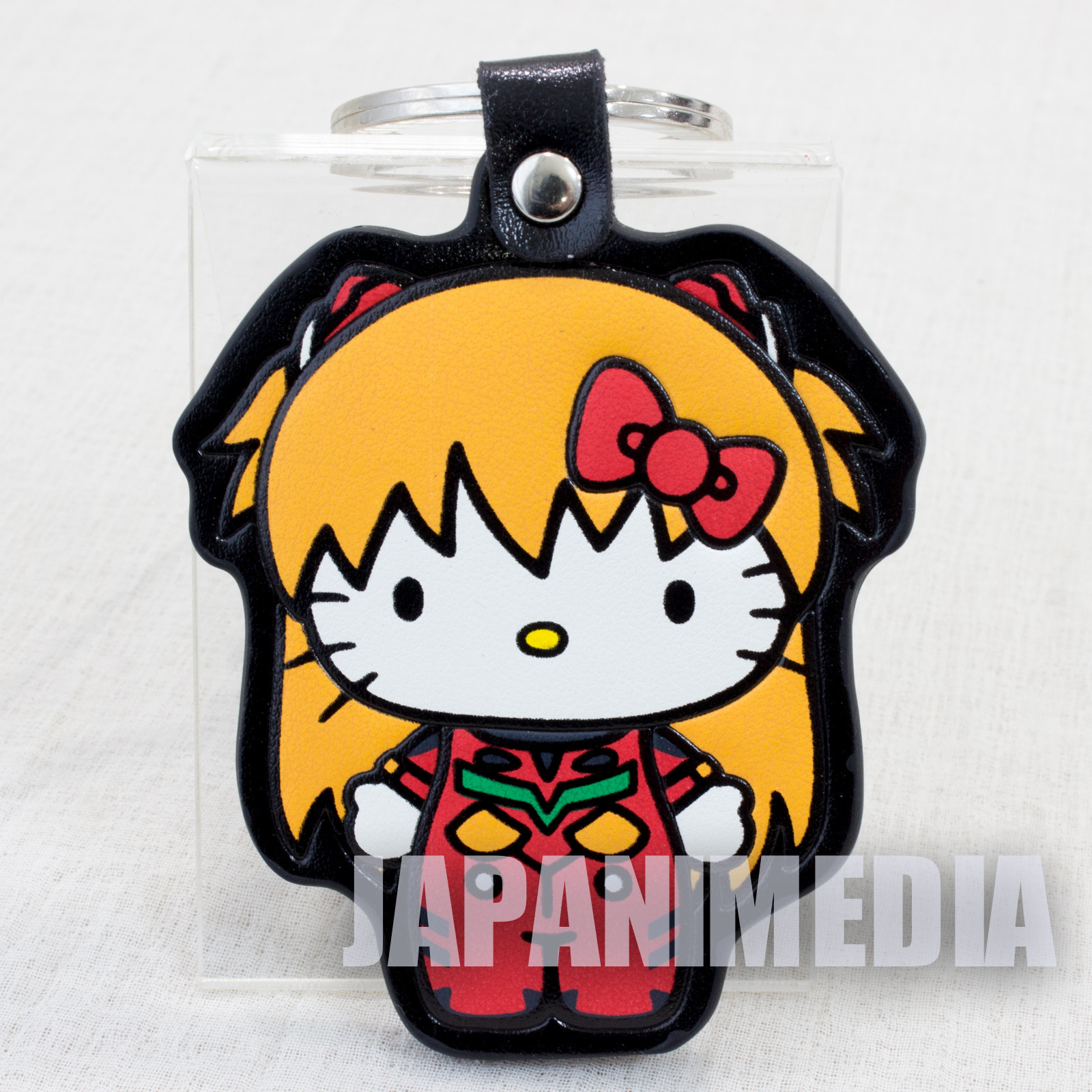 Evangelion x Hello Kitty Asuka Langely Synthetic Leather Mascot Keychain Sanrio