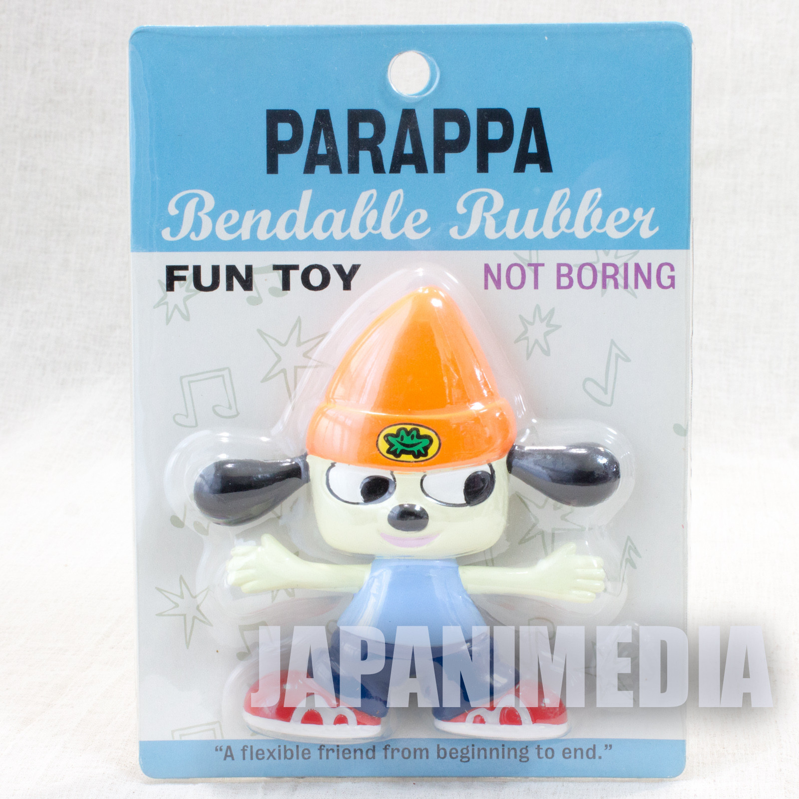 Parappa The Rapper PARAPPA Bendable Rubber Figure JAPAN