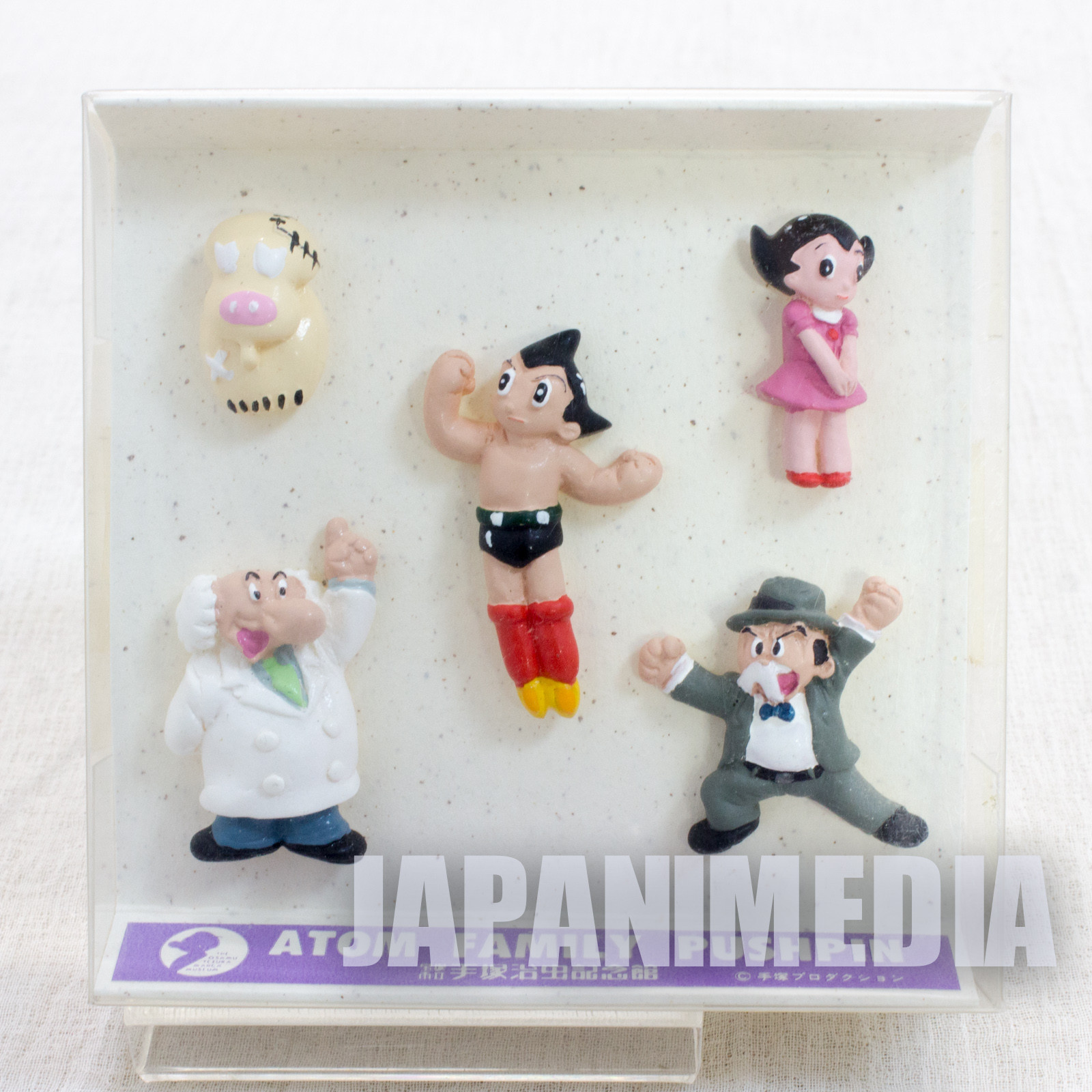 Astro Boy Atom Push Pins 5pc set The Osamu Tezuka Museum JAPAN ANIME