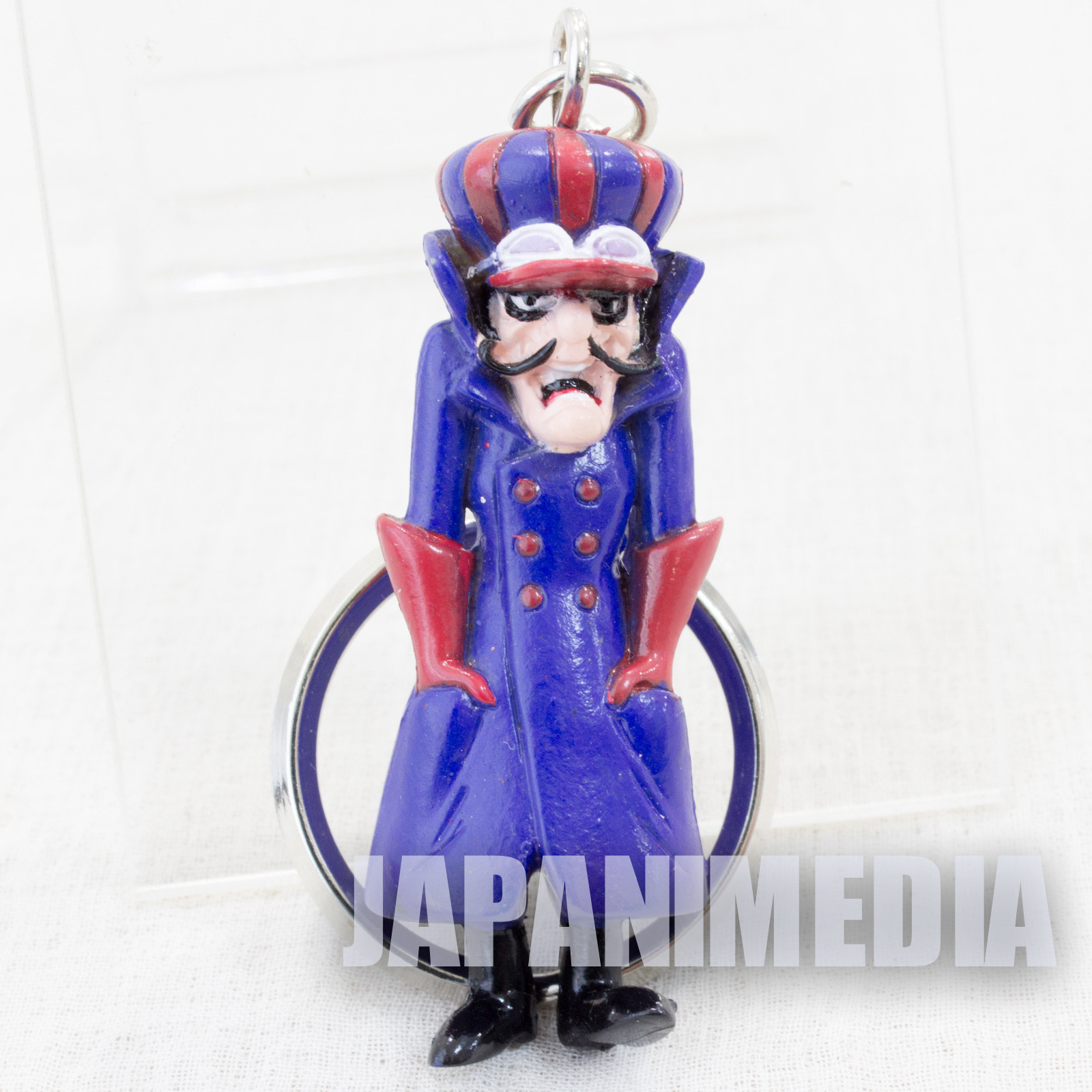 Wacky Races Dick Dastardly Figure Keychain 1996 Banpresto JAPAN Hanna-Barbera
