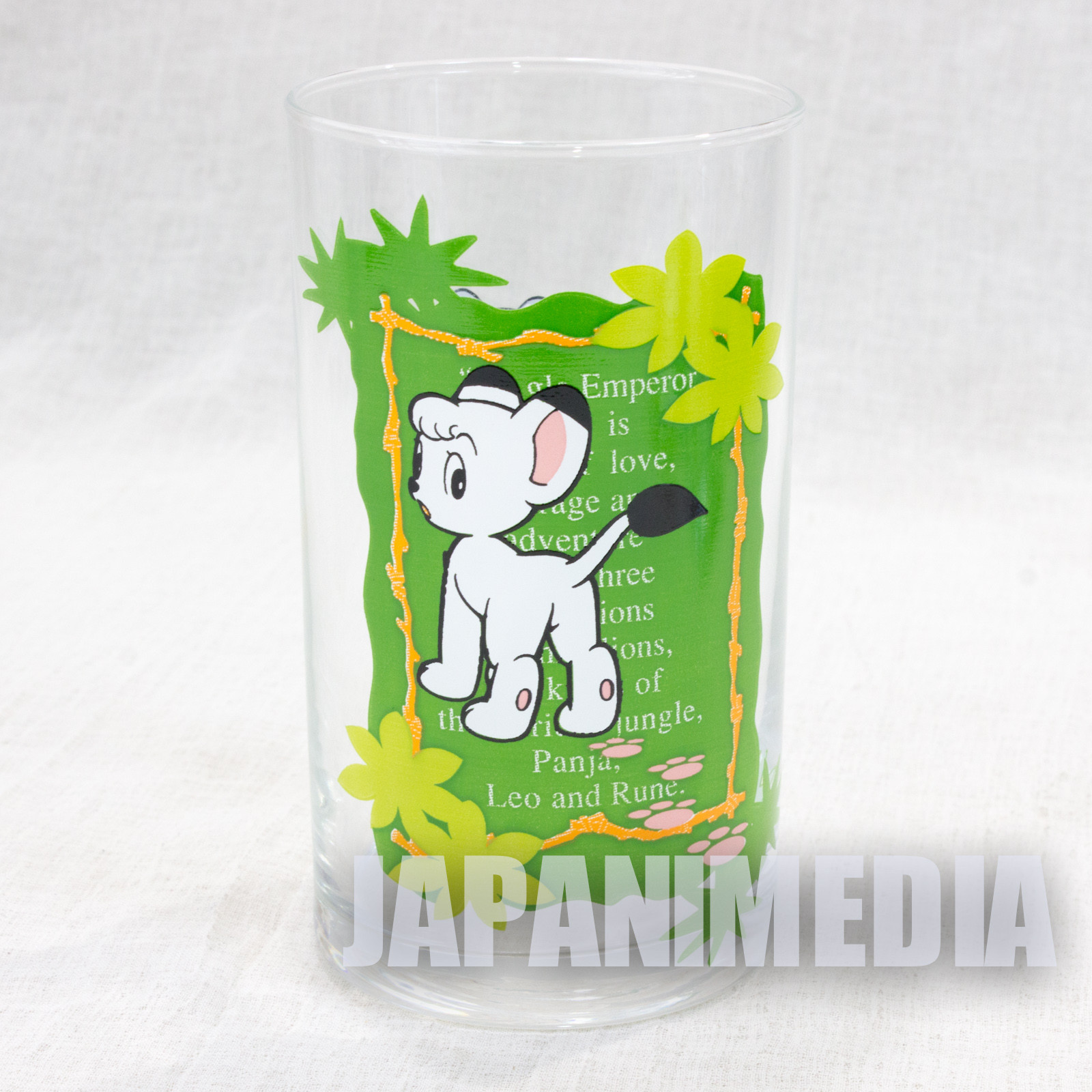 Jungle Emperor Leo Tezuka Osamu Character Glass JAPAN ANIME MANGA