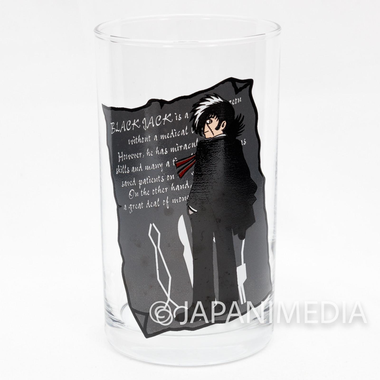 Black Jack Tezuka Osamu Character Glass JAPAN ANIME MANGA