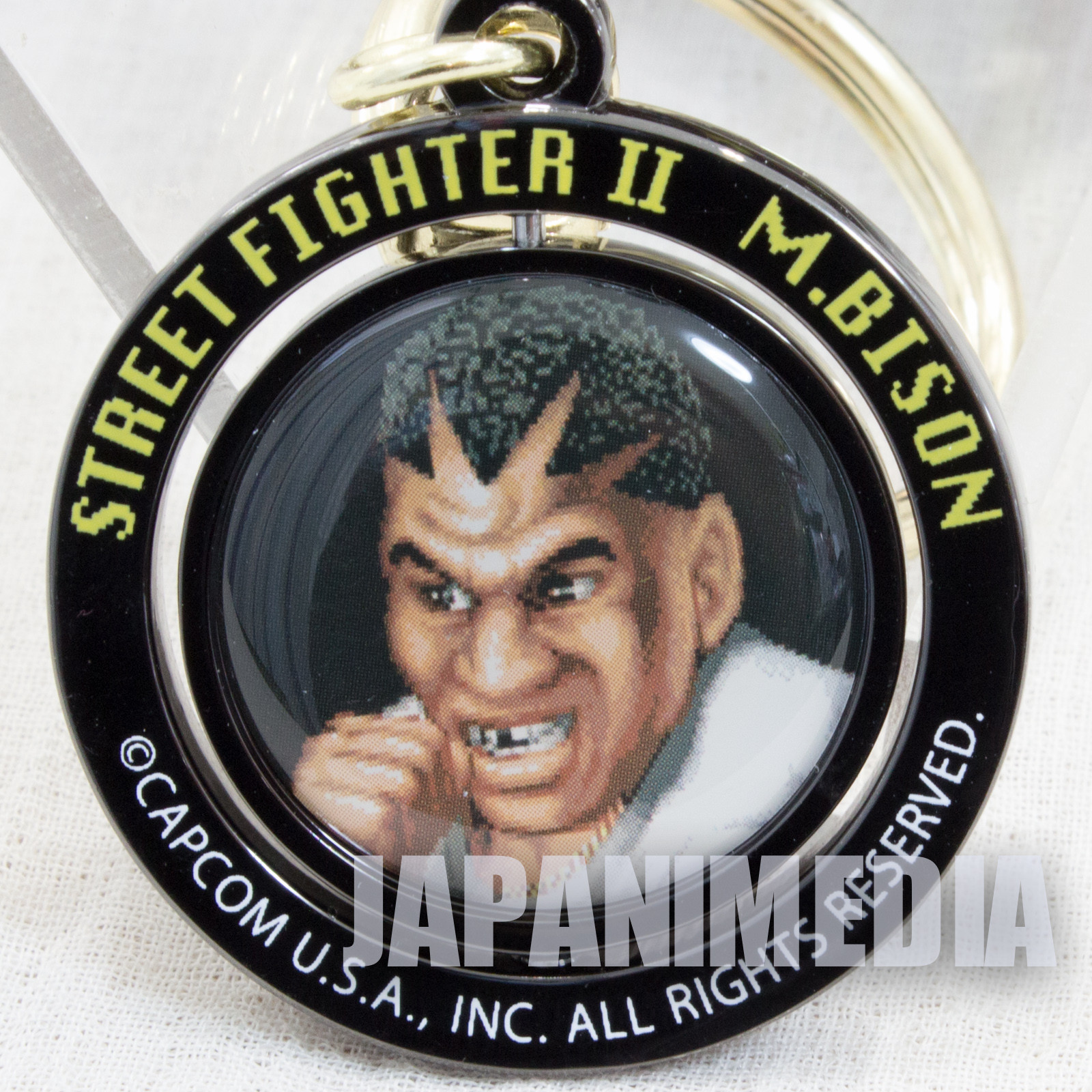 Street Fighter 2 Balrog Turn Metal Mascot Keychain Capcom Character JAPAN Bison