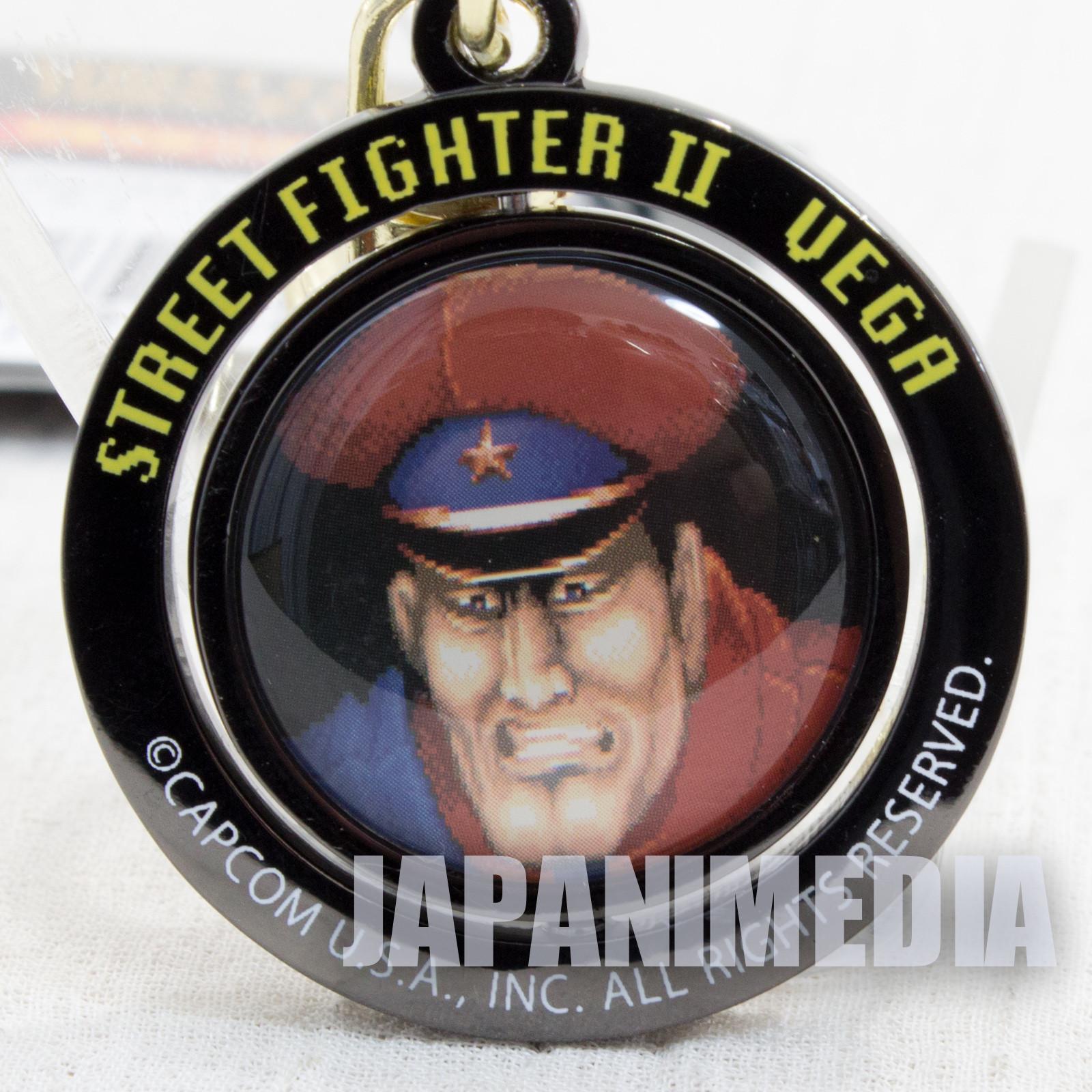 Street Fighter 2 Bison Turn Metal Mascot Keychain Capcom Character JAPAN Vega