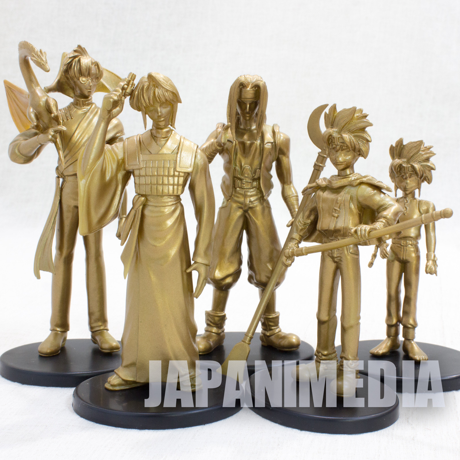 Gensomaden SAIYUKI Trading Figure 5pc Gold ver. Set [Sanzo / Goku / Gojyo / Hakkai / Goku (secret ver.) ] JAPAN