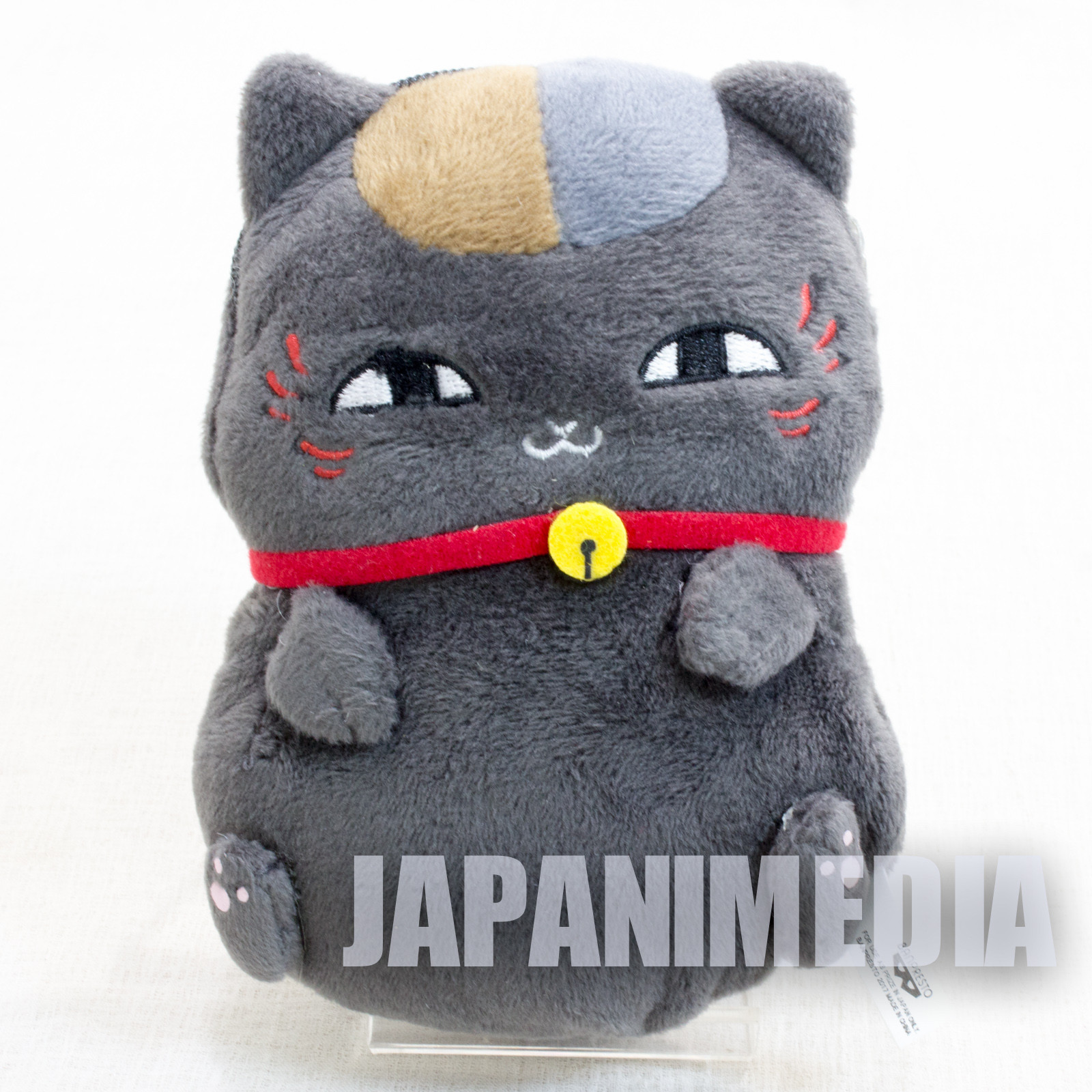 Natsume's Book of Friends Riou (Black Nyanko) Plush doll Mini Pouch Banpresto JAPAN