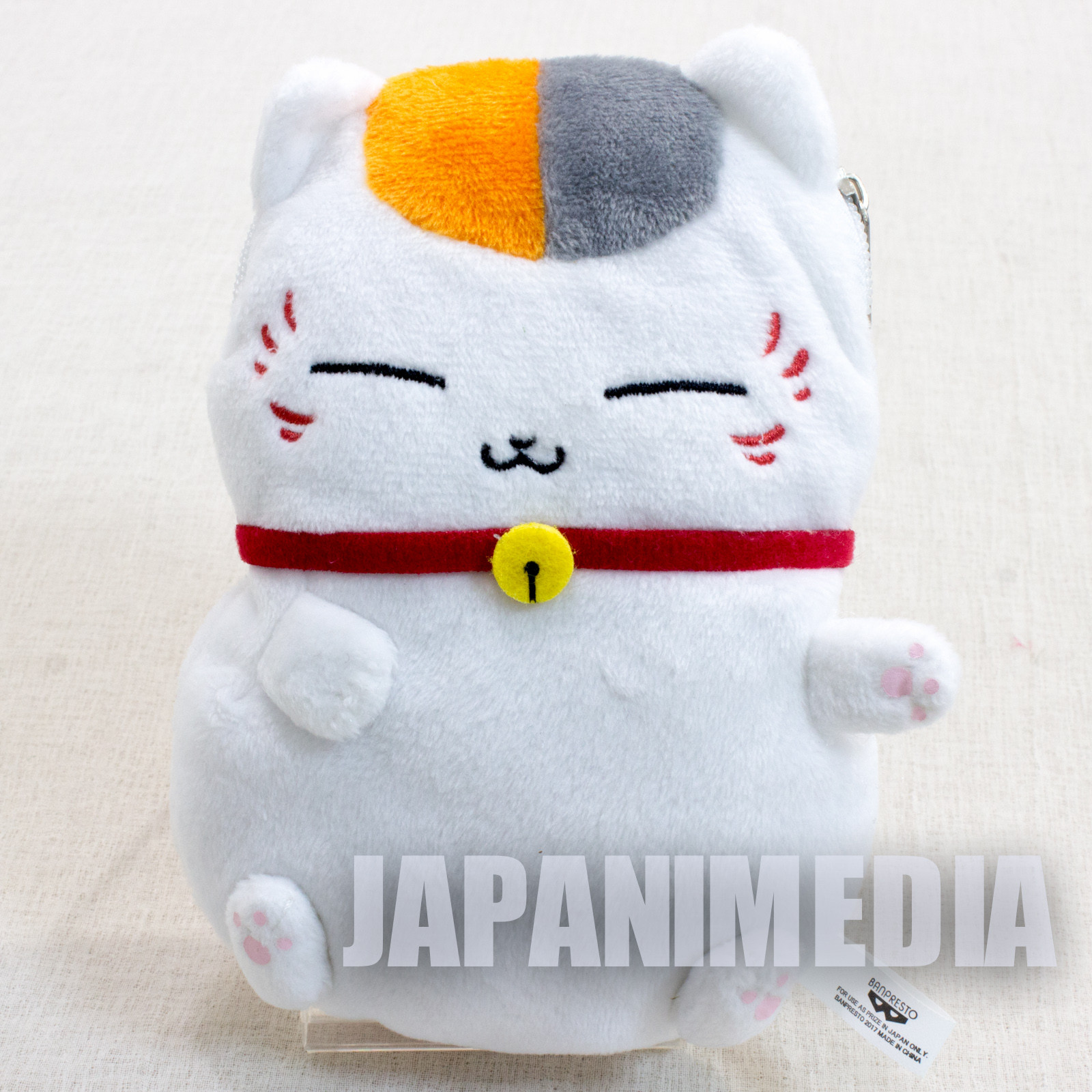 Natsume's Book of Friends Nyanko-sensei Plush doll Mini Pouch (Doze off ver.) Banpresto JAPAN