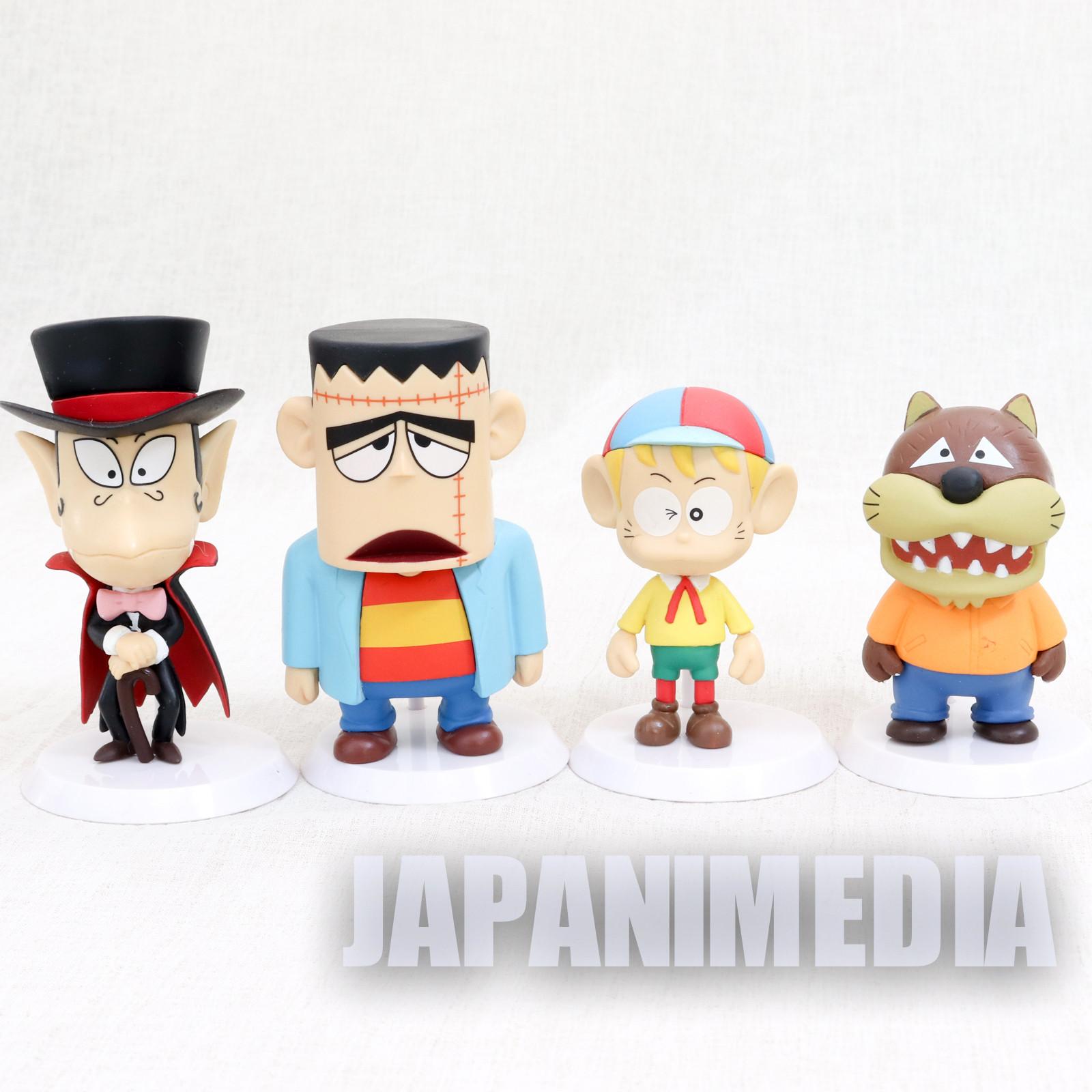 The Monster Kid Chibi Kyun Chara Figure 4pc Set [Kaibutsu-kun / Dracula / Wolfman /Franken] Fujiko Fujio JAPAN