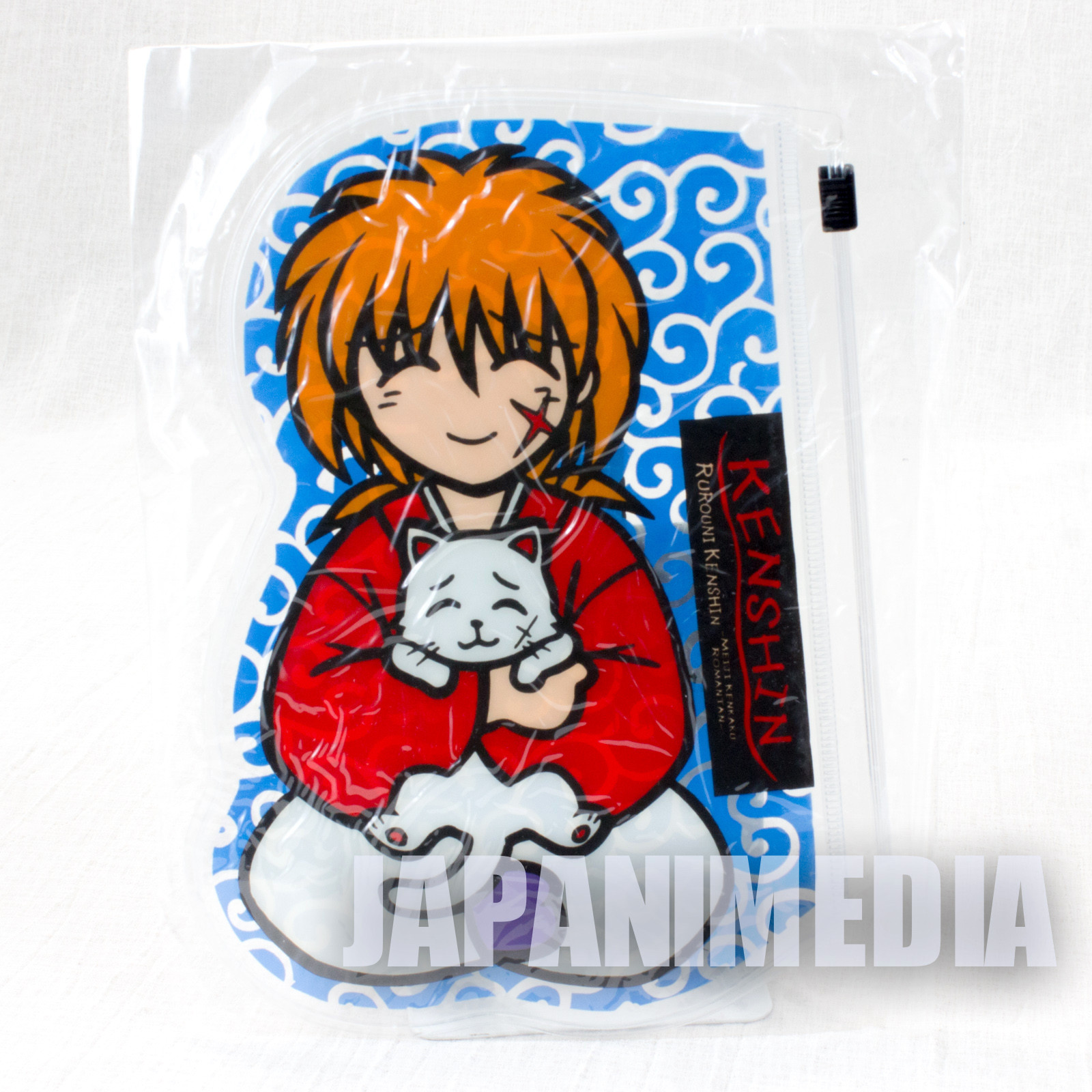 Rurouni Kenshin Kenshin Himura Clear pouch Bag JAPAN ANIME