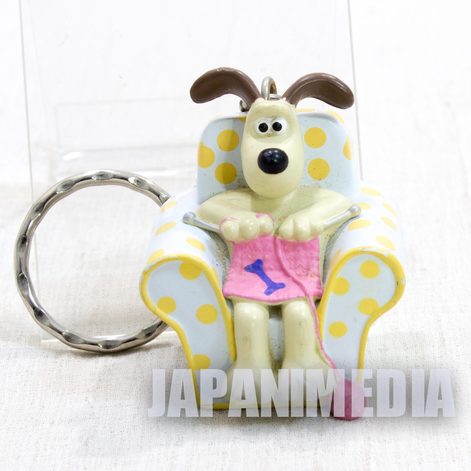 Wallace & Gromit Knitting on Sofa Figure Key Chain Banpresto JAPAN Ardman ANIME [No Package]