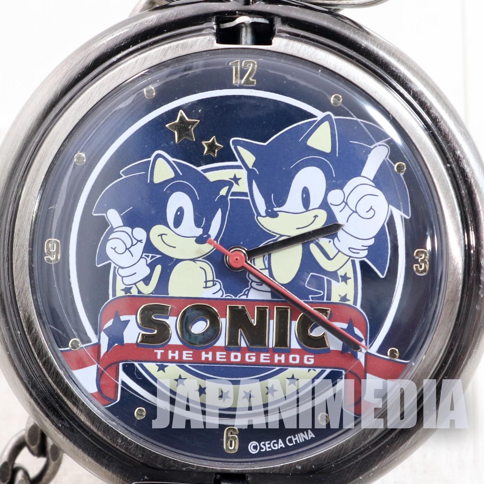 RARE! Sonic The Hedgehog 20th Anniversary Pocket watch #1 SEGA JAPAN GAME 2