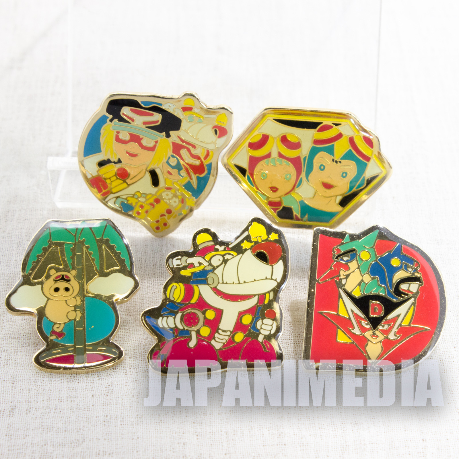 Time Bokan Yatterman Metal Pins 5pc Set Tatsunoko Production JAPAN ANIME