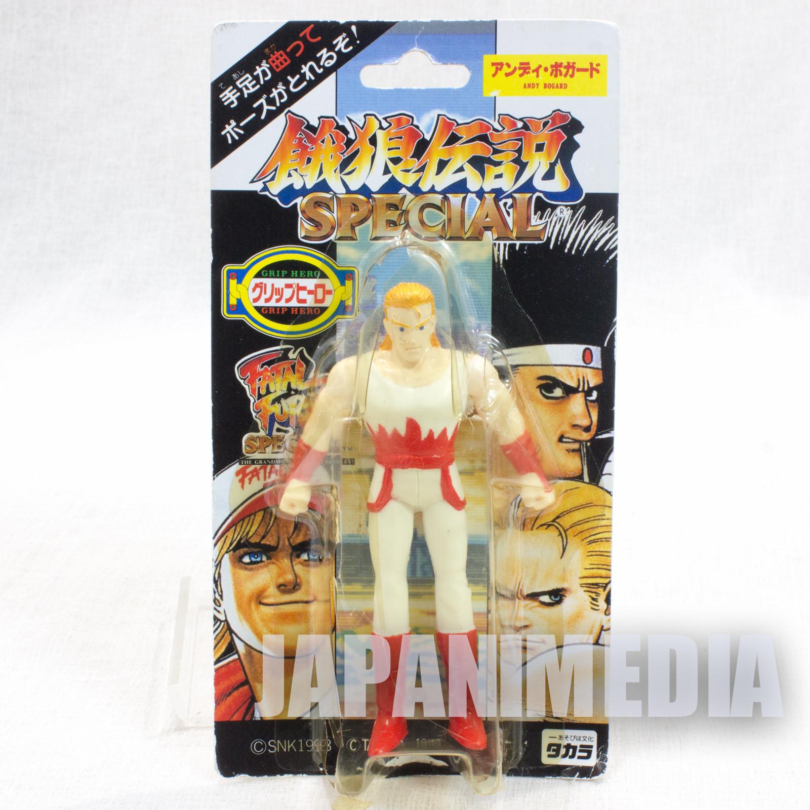 RARE! Fatal Fury Special Andy Bogard Mini Action Figure Grip Hero SNK JAPAN