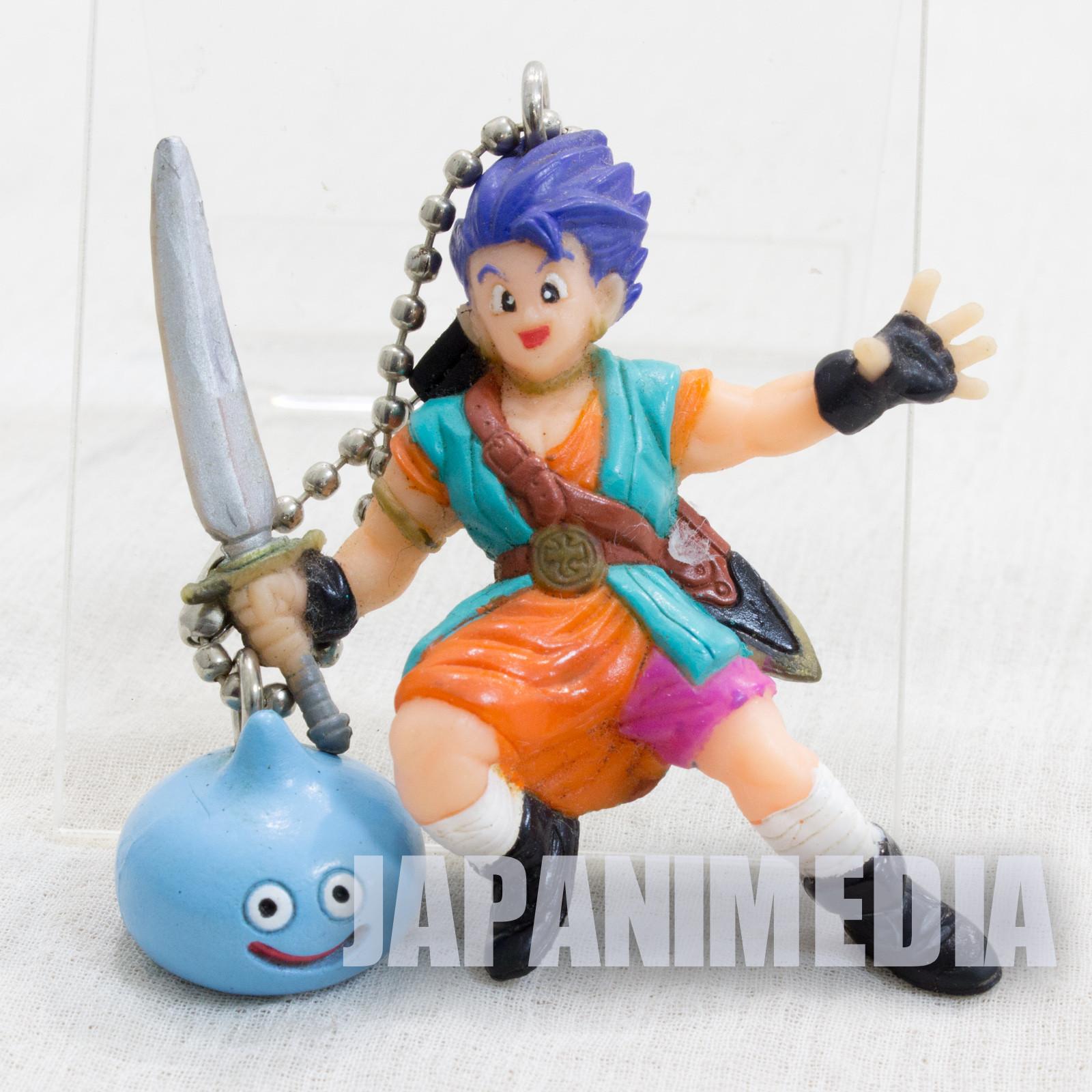 Retro RARE! Dragon Quest VI 6 Hero & Slime Figure Ballchain WARRIOR ENIX