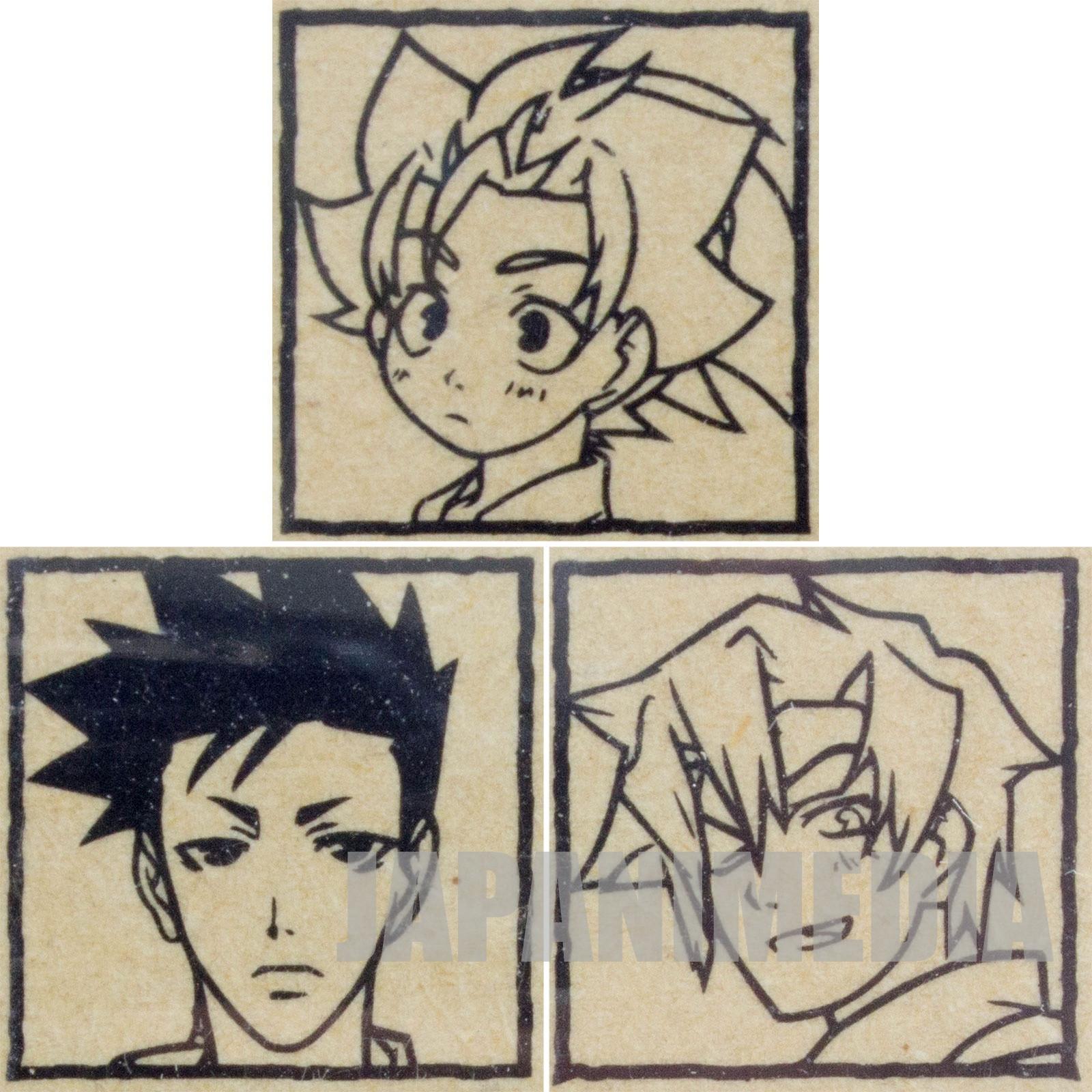 Peacemaker Kurogane Stamp 3pc set [Tetsunosuke Ichimura / Susumu Yamazaki / Suzu Kitamura ] JAPAN
