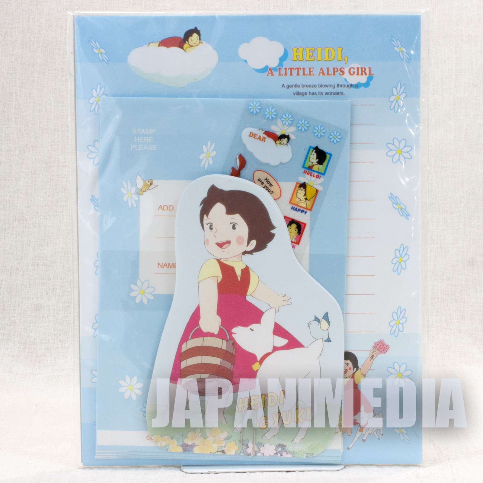 Heidi Girl of the Alps Letter writing set JAPAN ANIME
