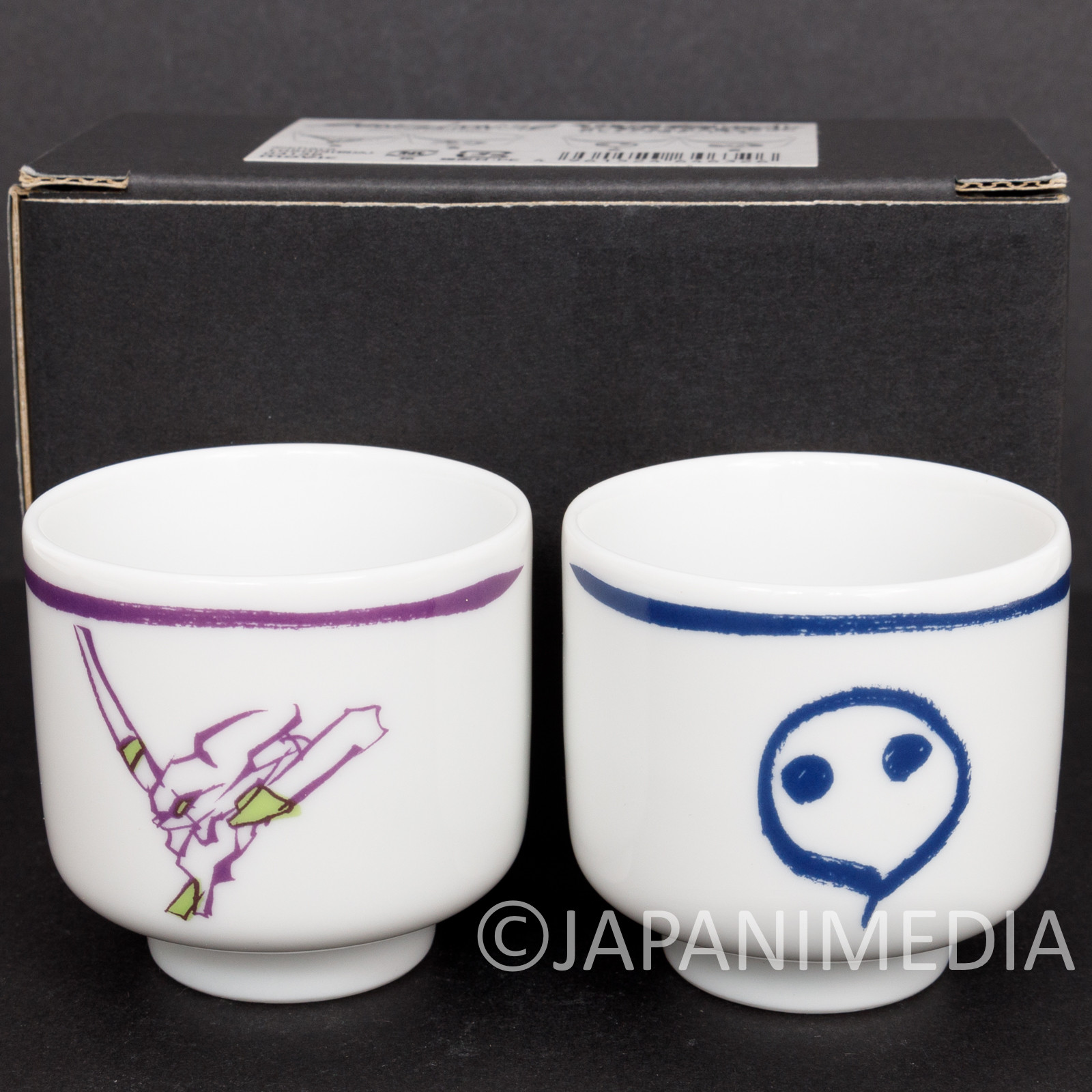 Evangelion Japanese Cup Ochoko 2pc Set JAPAN ANIME