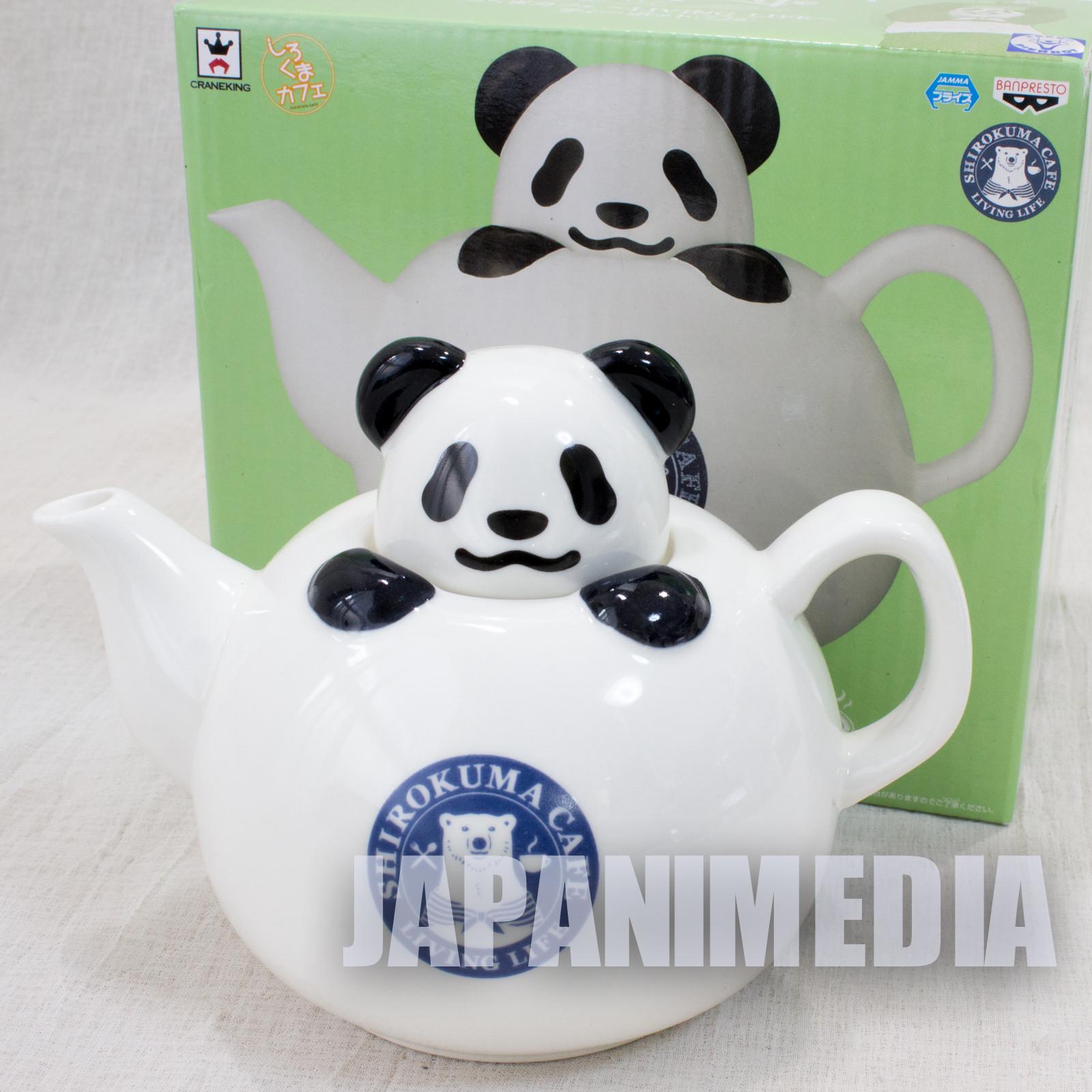 Shirokuma Cafe Polar Bear Panda kun Tea Pot Banpresto JAPAN ANIME MANGA