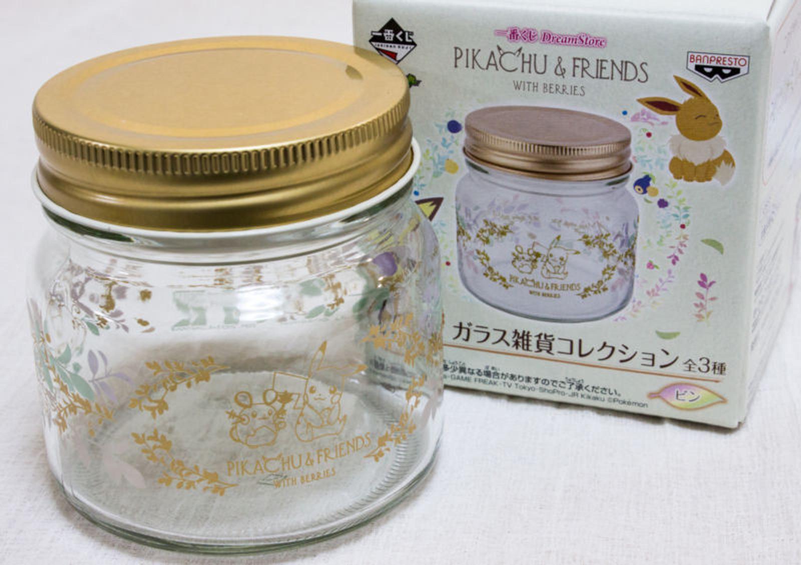 Pokemon Glass Candy Pot Pikachu Banpresto Pocket Monster JAPAN ANIME