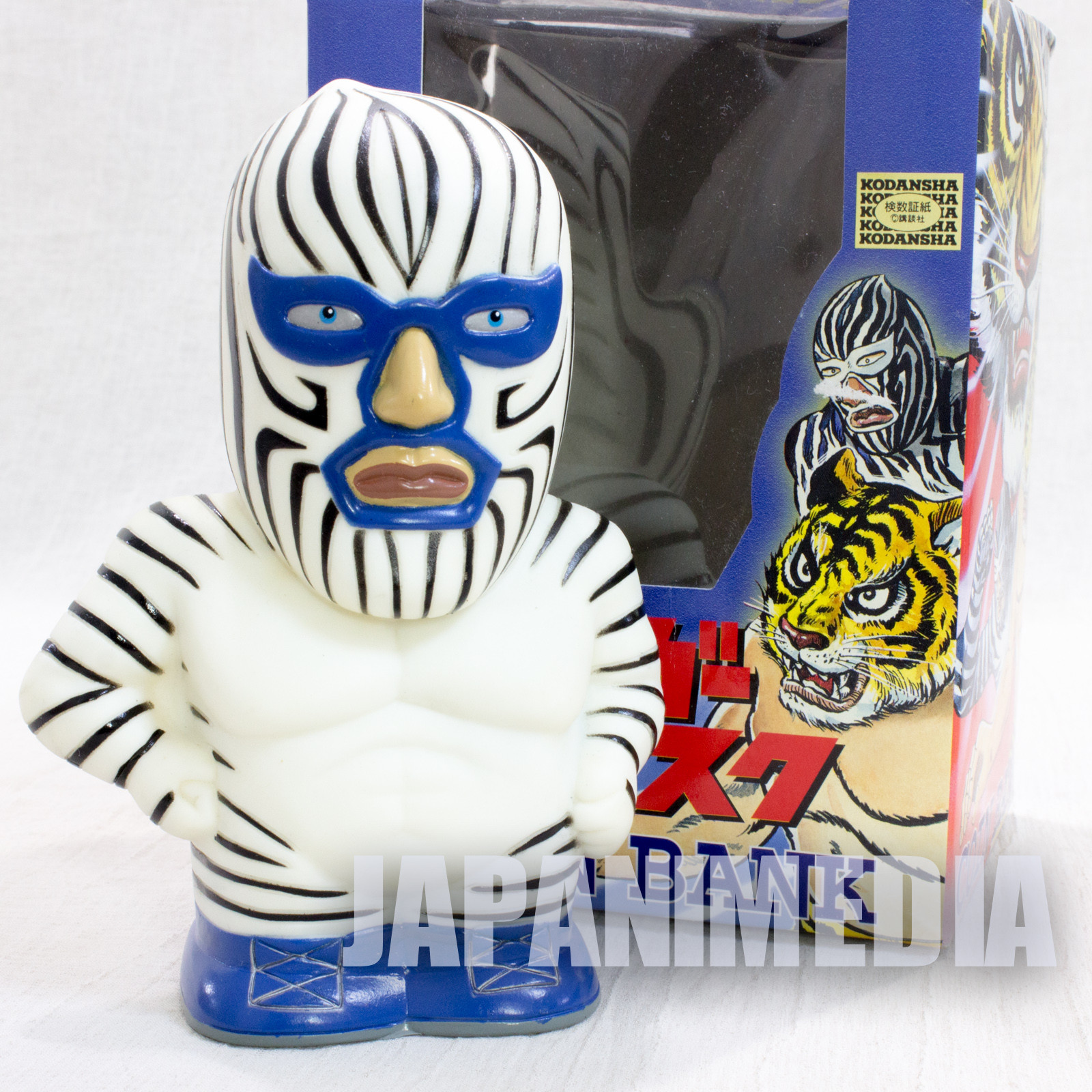 Tiger Mask Zebraman Soft Vinyl Figure Coin Bank JAPAN ANIME MANGA Pro Wrestling
