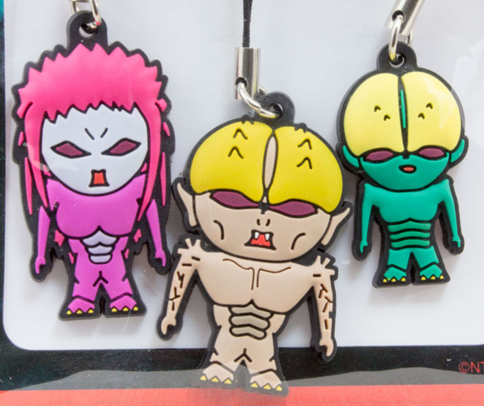 Movie Humanoid Monster Bem Bella Belo Rubber Mascot Strap Set JAPAN ANIME MANGA