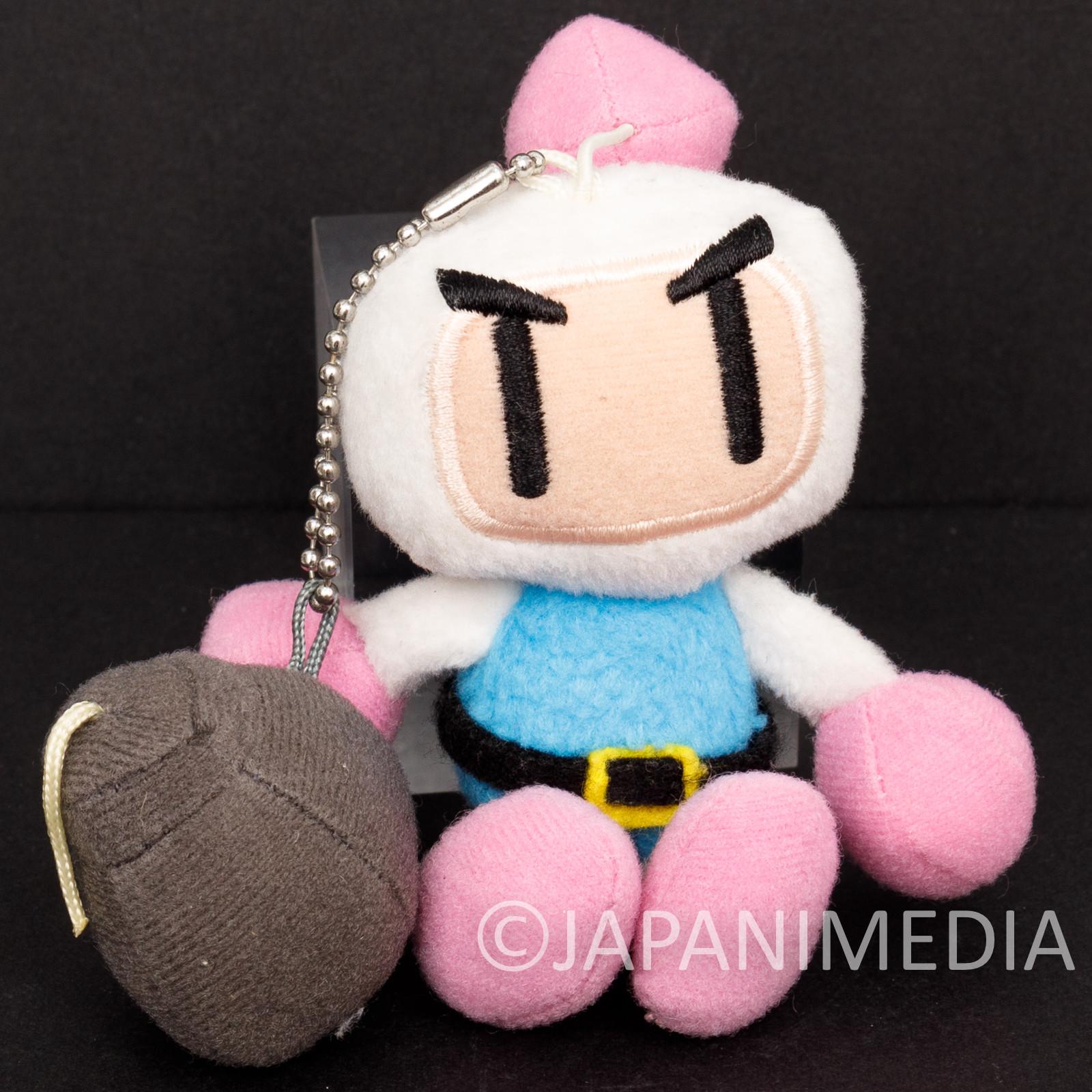 Bomberman Plush Doll Ballchain Famicom Hudson Nintendo JAPAN NES