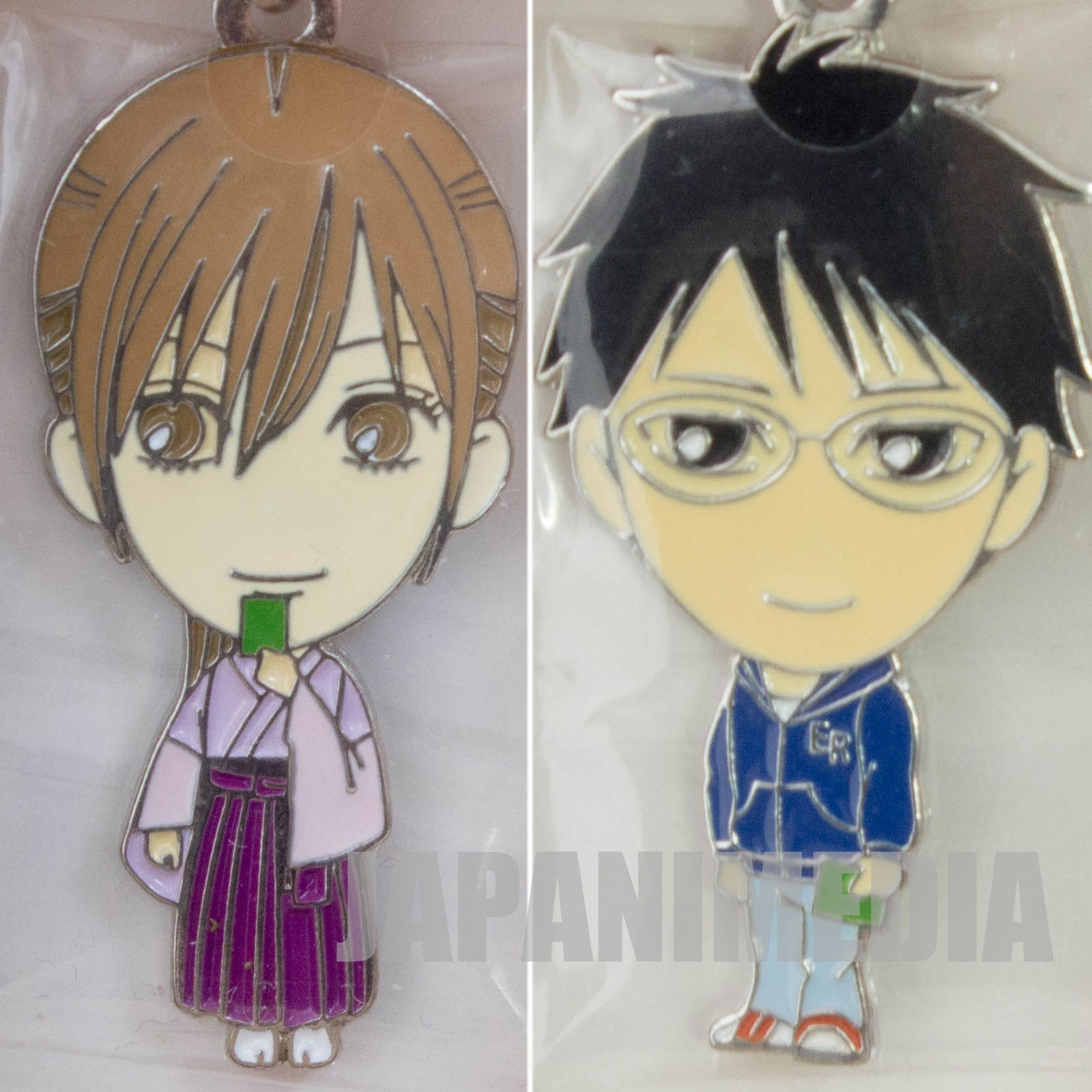 Chihayafuru Chihaya Ayase & Arata Wataya Character charm 2pc Set JAPAN
