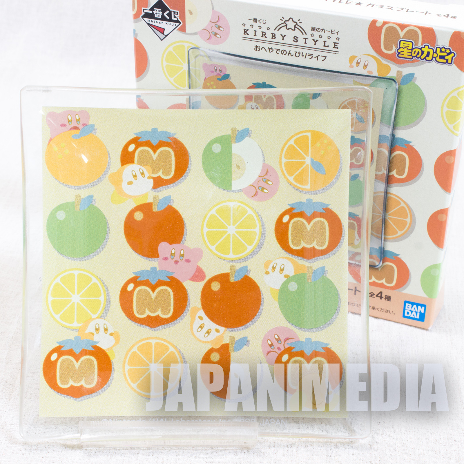 Kirby Super Star Style Glass Plate #2 BANDAI JAPAN GAME NINTNEDO