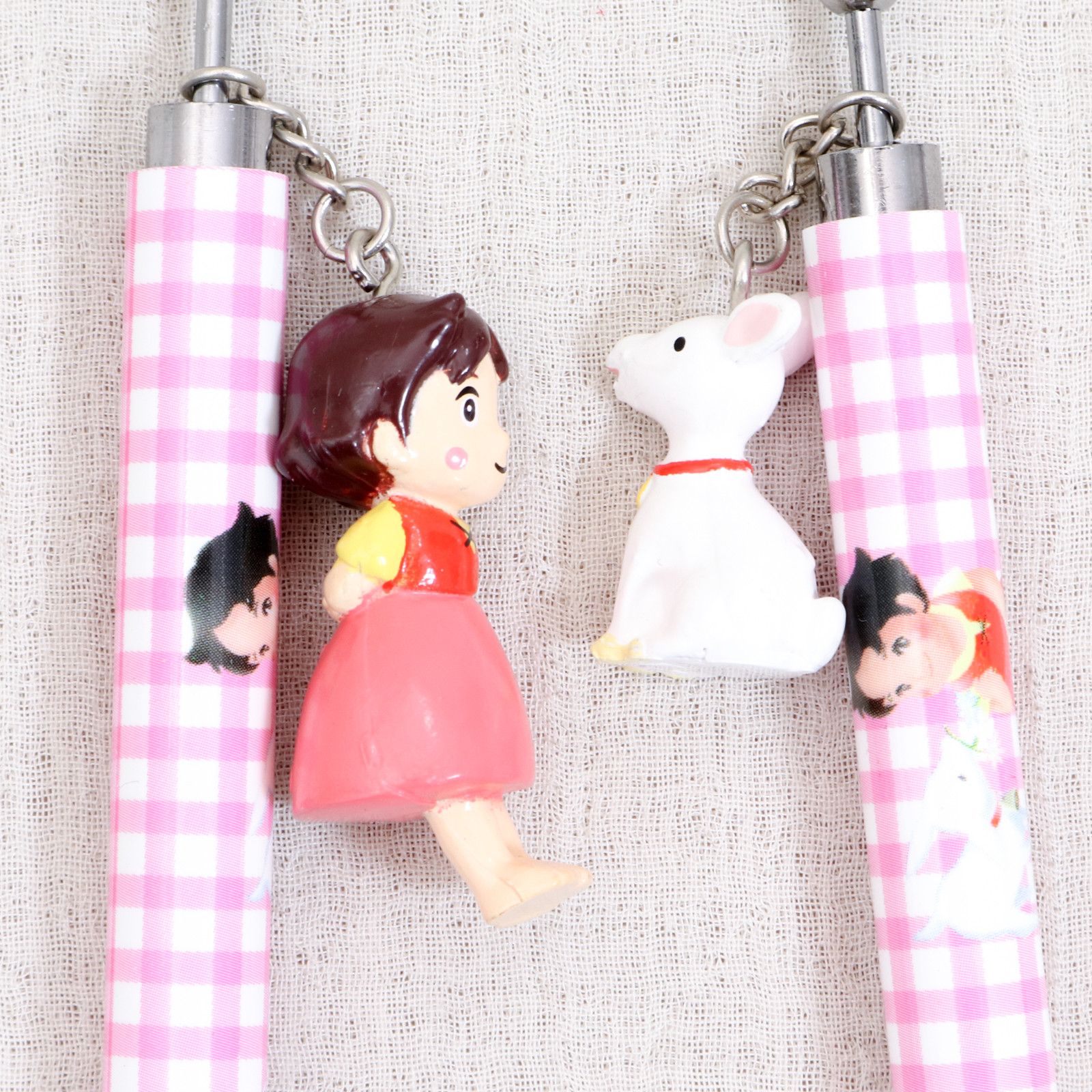 [JUNK!!] Heidi Girl of the Alps Heidi & Yuki chan Mechanical pencil & Point pen 2pc set JAPAN ANIME