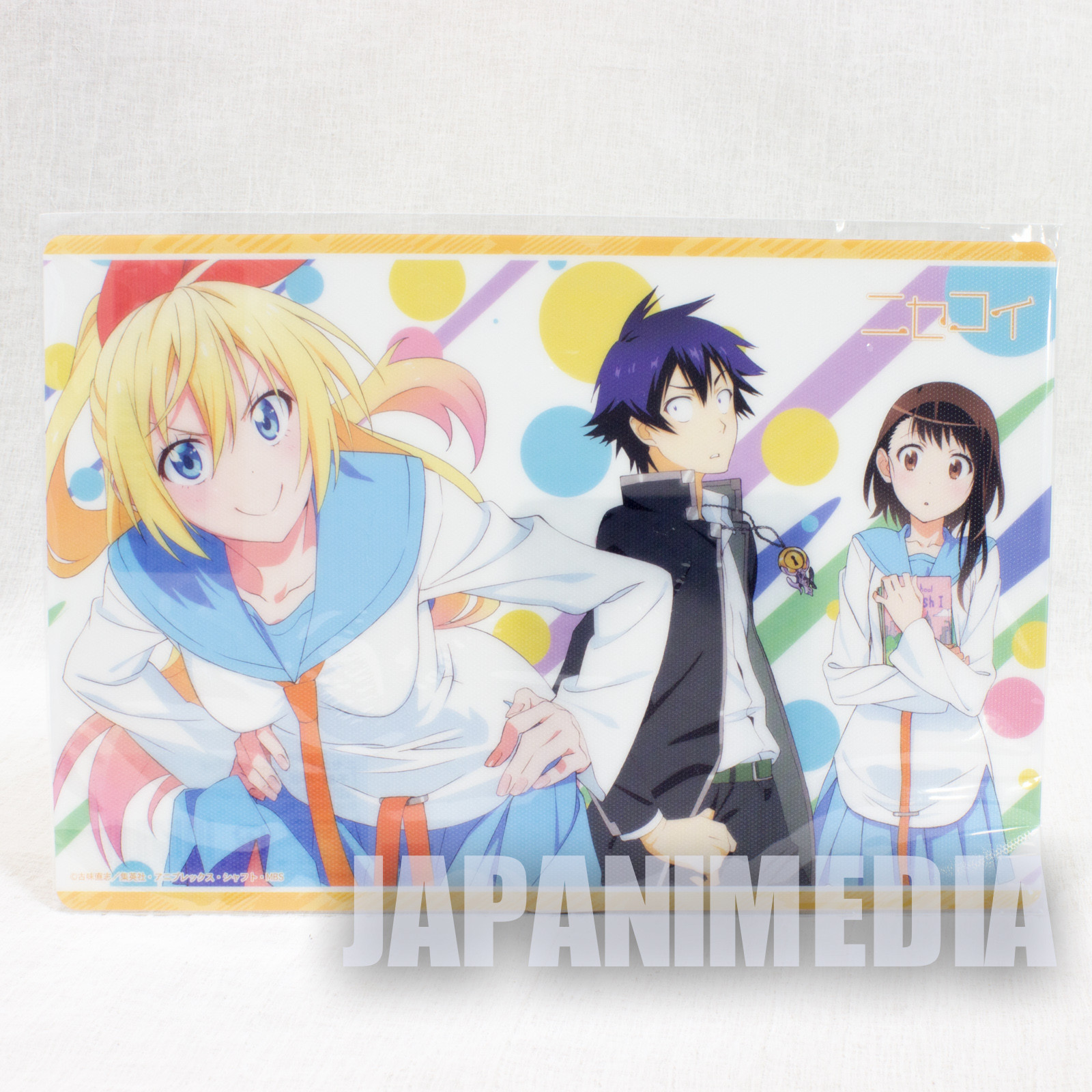 Nisekoi Plastic Big Card [Raku ichijyo/ Chitoge Kirisaki / Kosaki Onodera] JAPAN ANIME