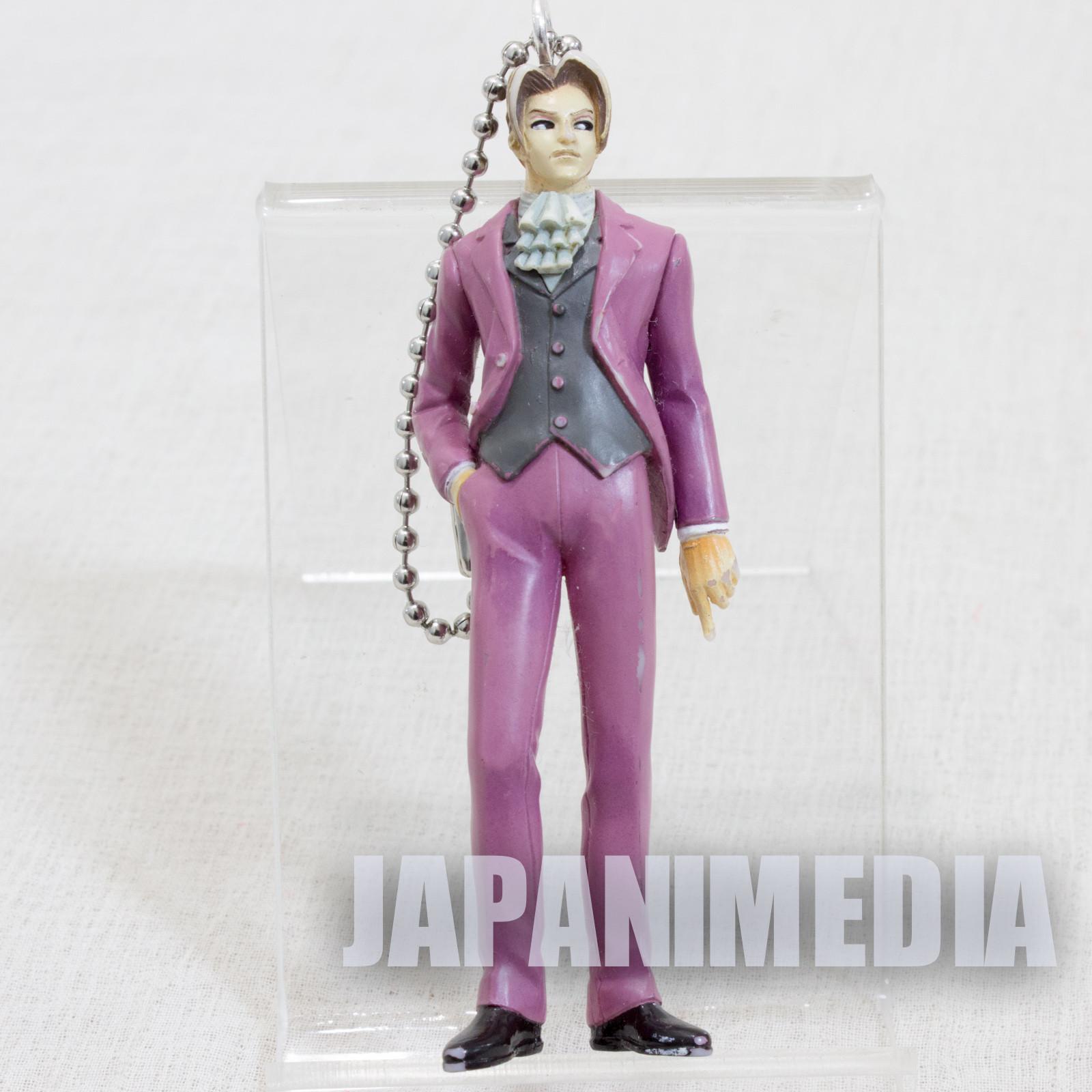 Ace Attorney Gyakuten Saiban Reiji Mitsurugi Figure w/Ballchain GAME CAPCOM