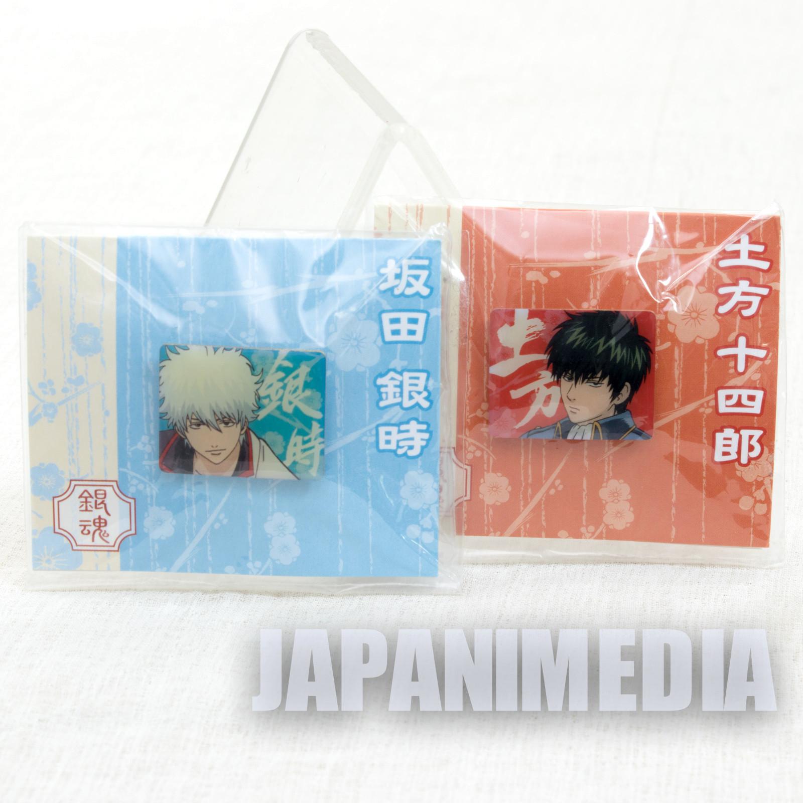 Gintama Gintoki Sakata & Toshiro Hijikata Pins 2pc Set JAPAN ANIME MANGA