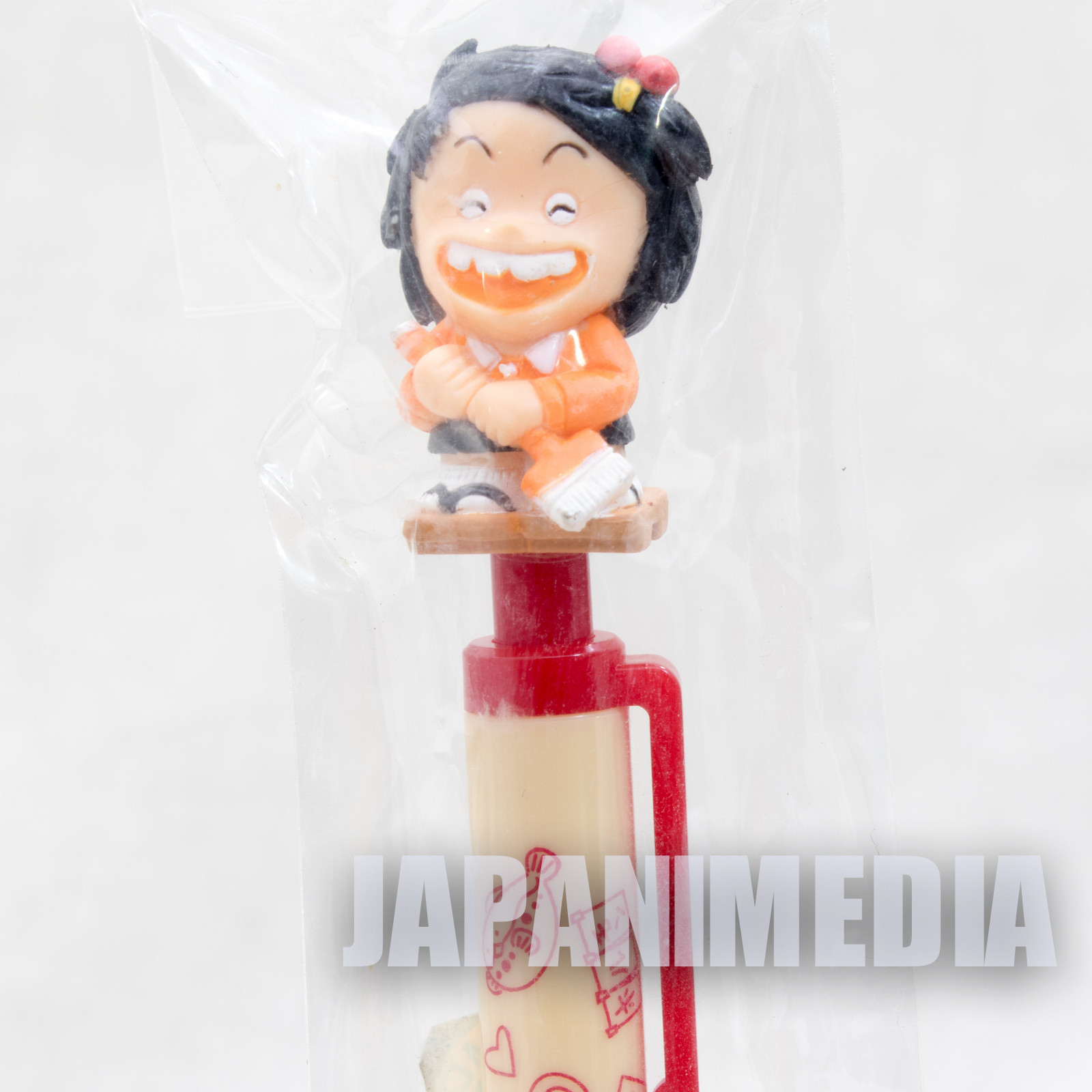 RARE!! Jarinko Chie Chie-chan Mechanical pencil with Figure Japan ANIME MANGA