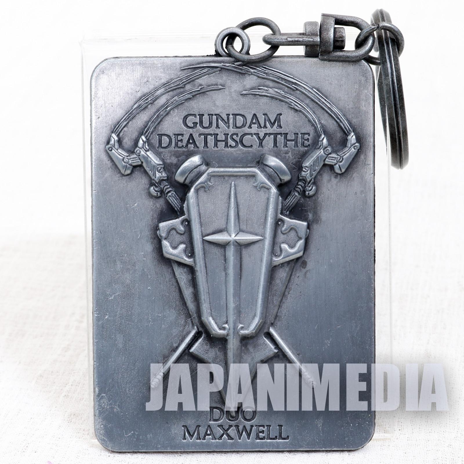 Gundam Wing Gundam Deathscythe Duo Maxwell Metal Plate Keychain JAPAN ANIME