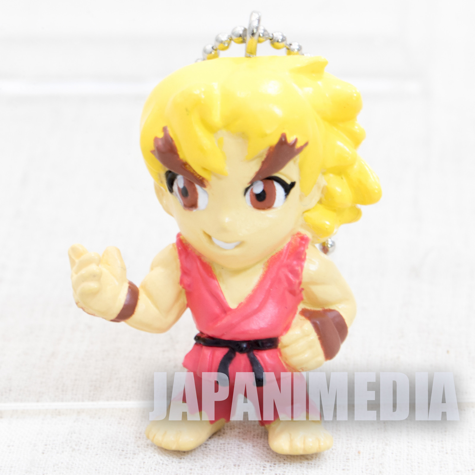 Street Fighter 2 Mini Figure Ken Figure Ballchain Capcom JAPAN GAME 2