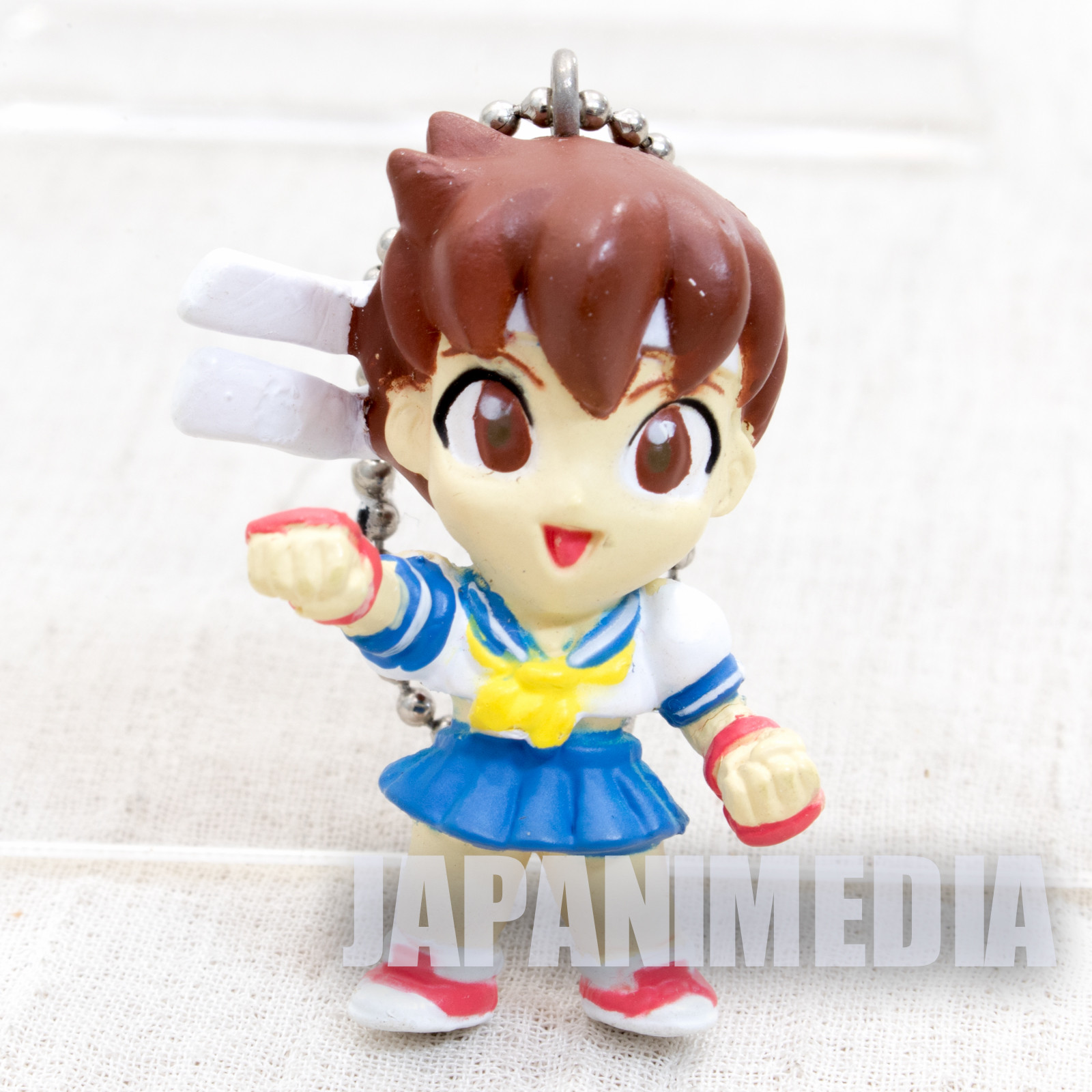 Street Fighter 2 Mini Figure Sakura Figure Ballchain Capcom JAPAN GAME 2