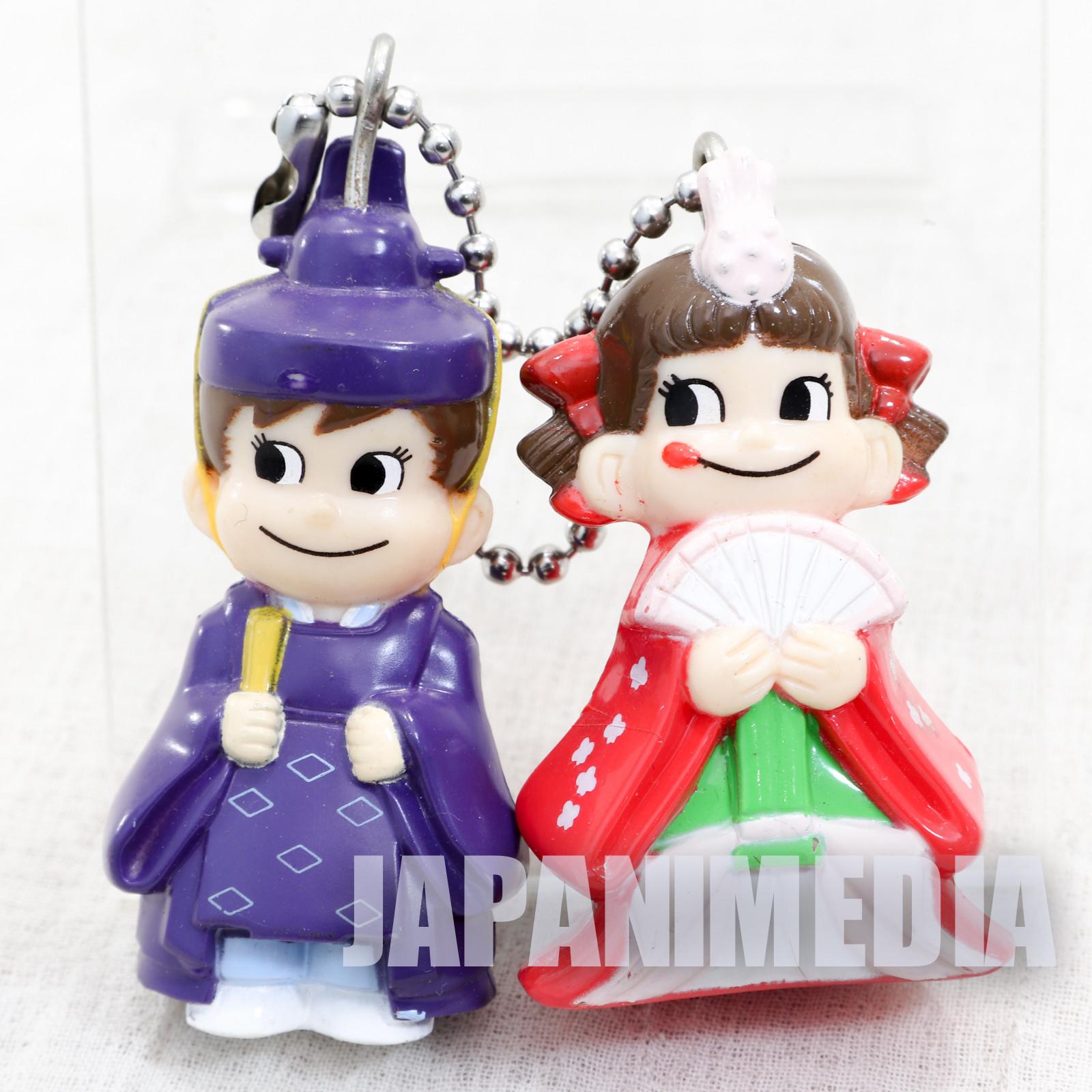 Milky Peko-chan Poko-chan Figure w/Ballchain Hina Matsuri FUJIYA JAPAN ANIME