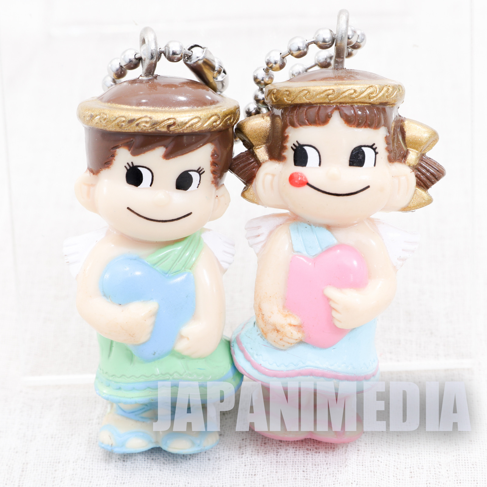 Milky Peko-chan Poko-chan Figure w/Ballchain Angel FUJIYA JAPAN ANIME