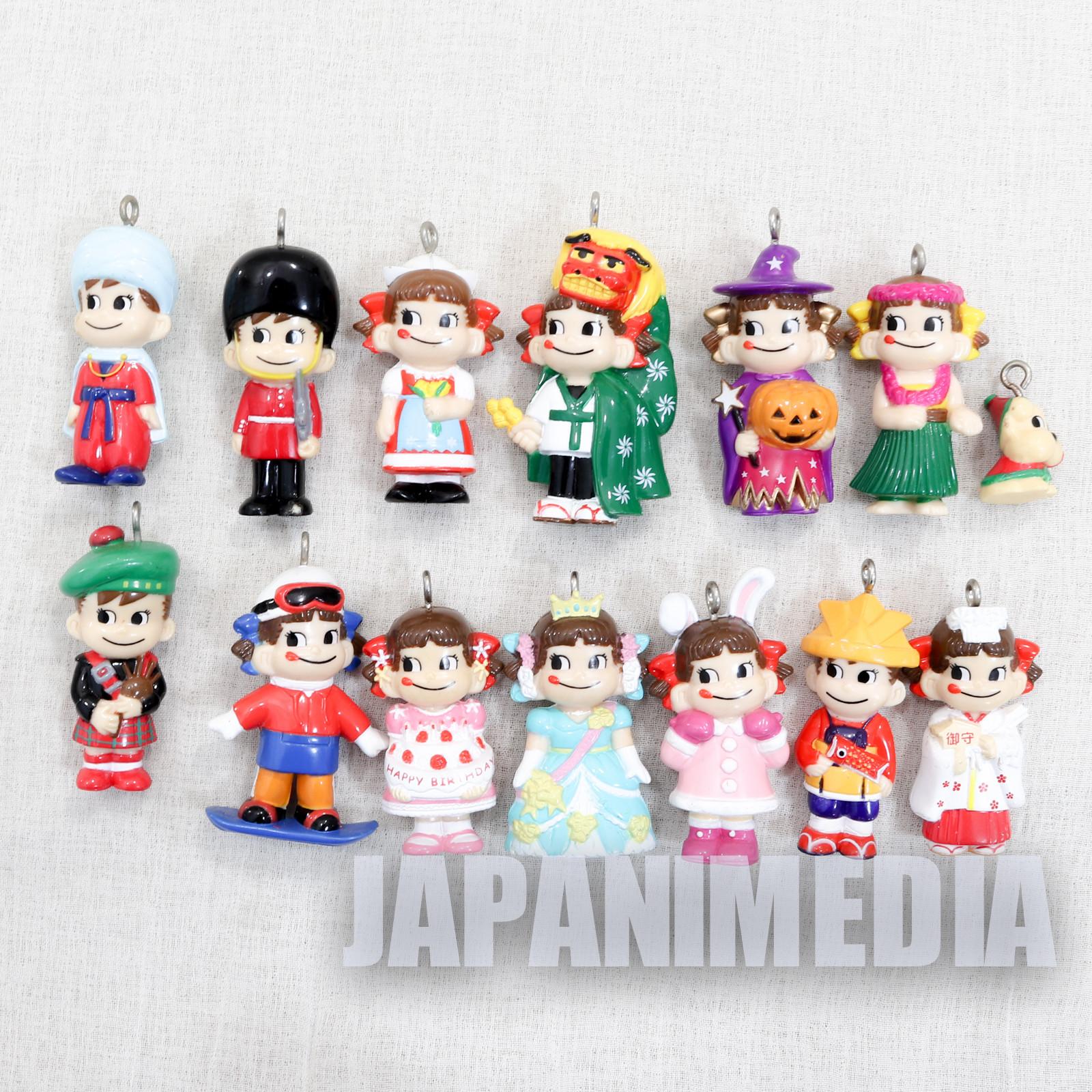 Milky Peko-chan Poko-chan Figure 14pc Set FUJIYA JAPAN ANIME